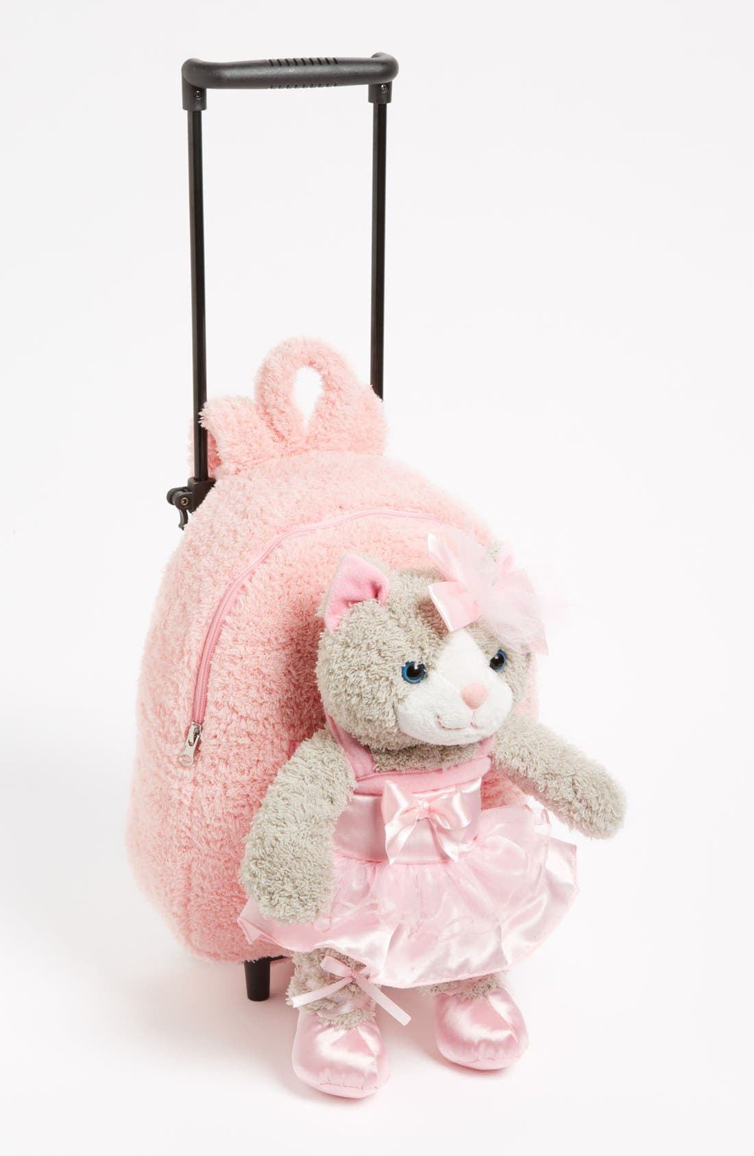 Main Image - Popatu 'Ballet Kitty' Rolling Backpack (Toddler Girls)