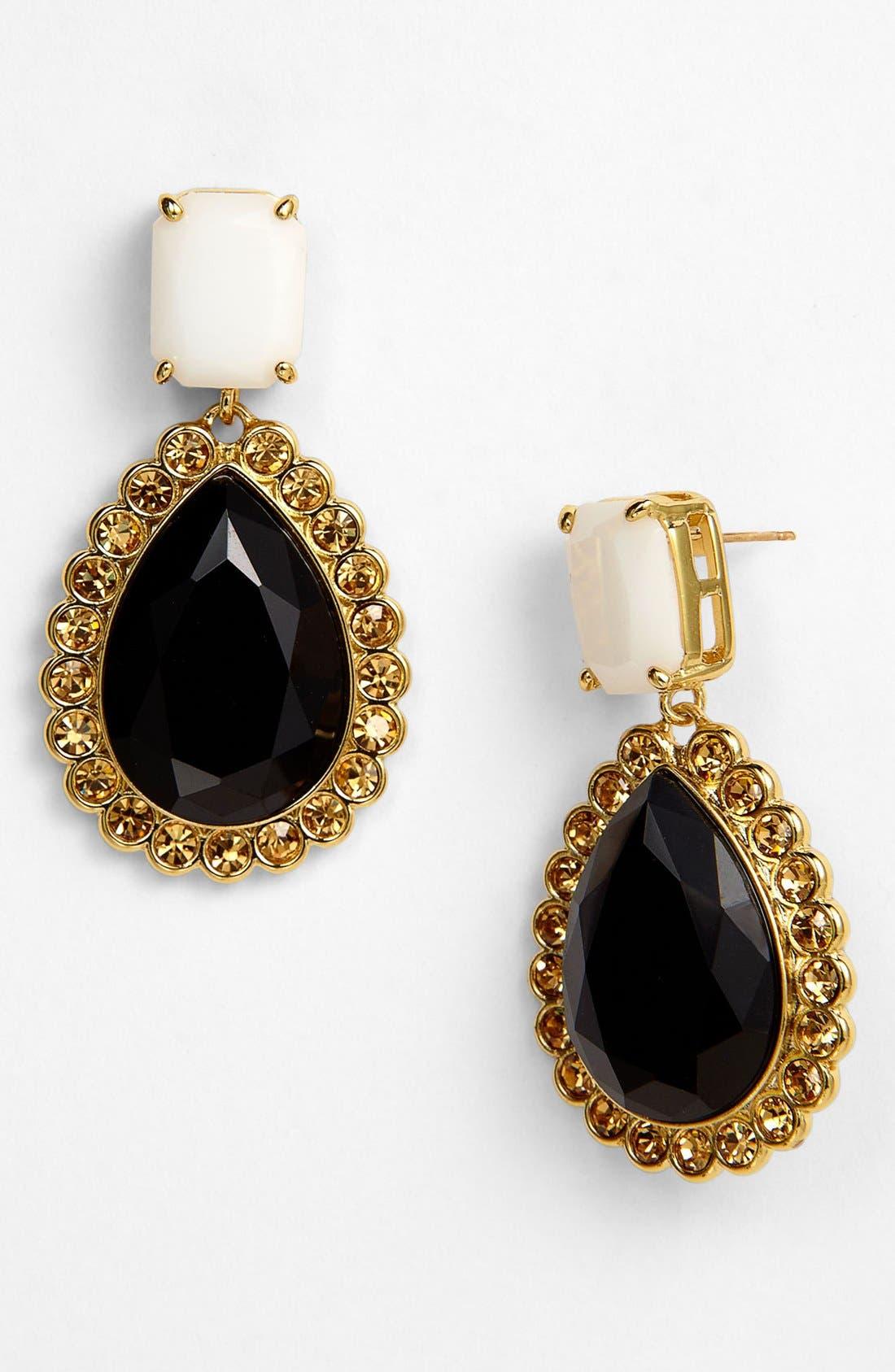 Alternate Image 1 Selected - kate spade new york 'run around' framed stone earrings