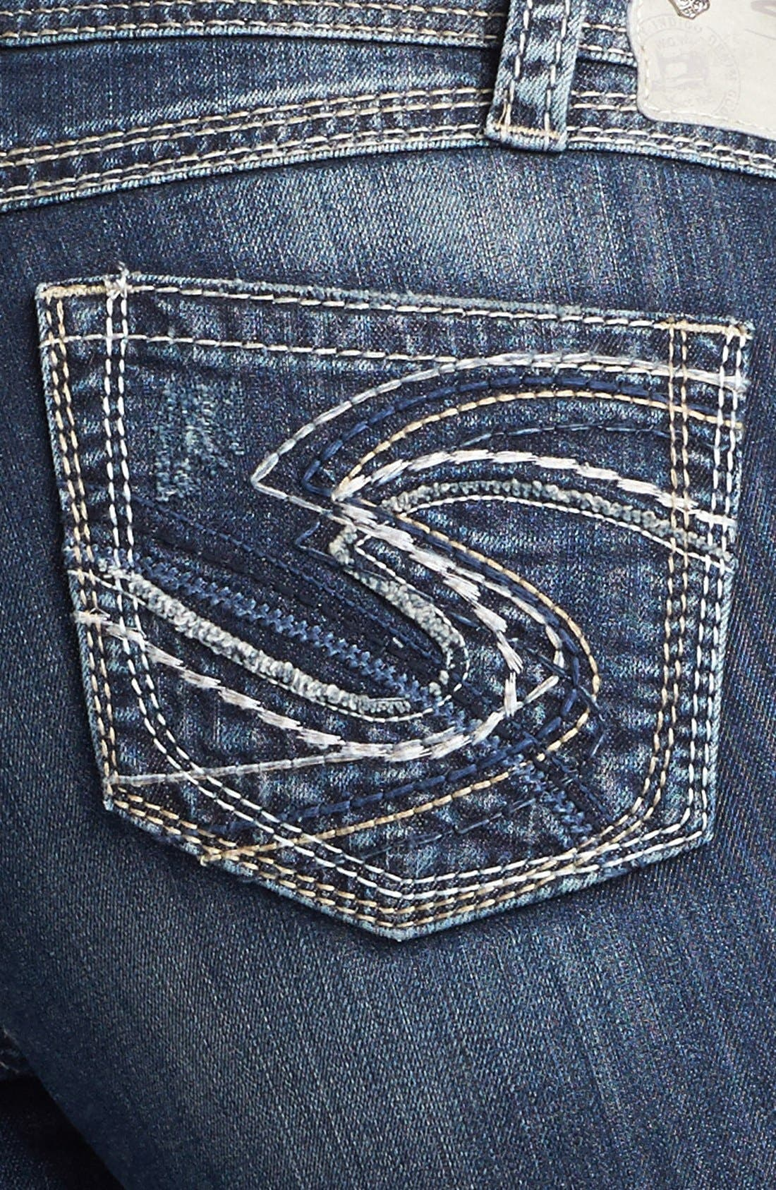 Alternate Image 3  - Silver Jeans Co. 'Twisted' Cuff Capri Jeans (Juniors Plus)