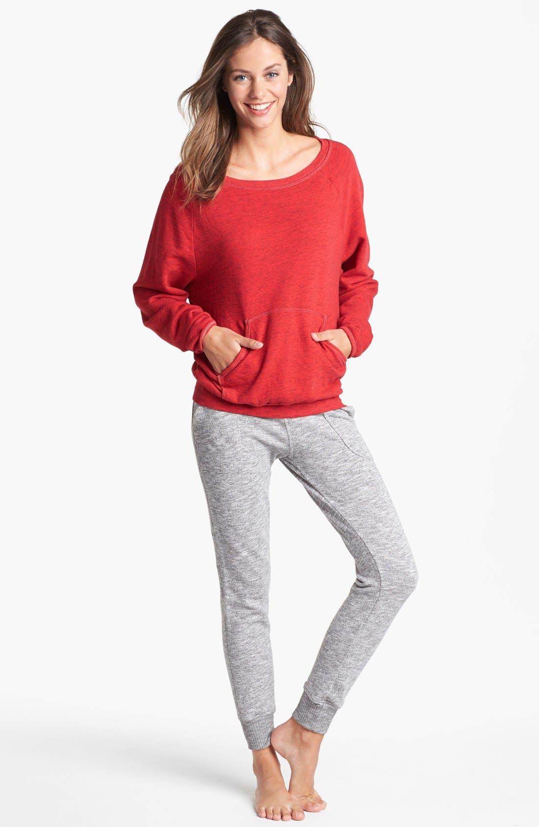Alternate Image 1 Selected - Hard Tail Sweatshirt & Ankle Pants