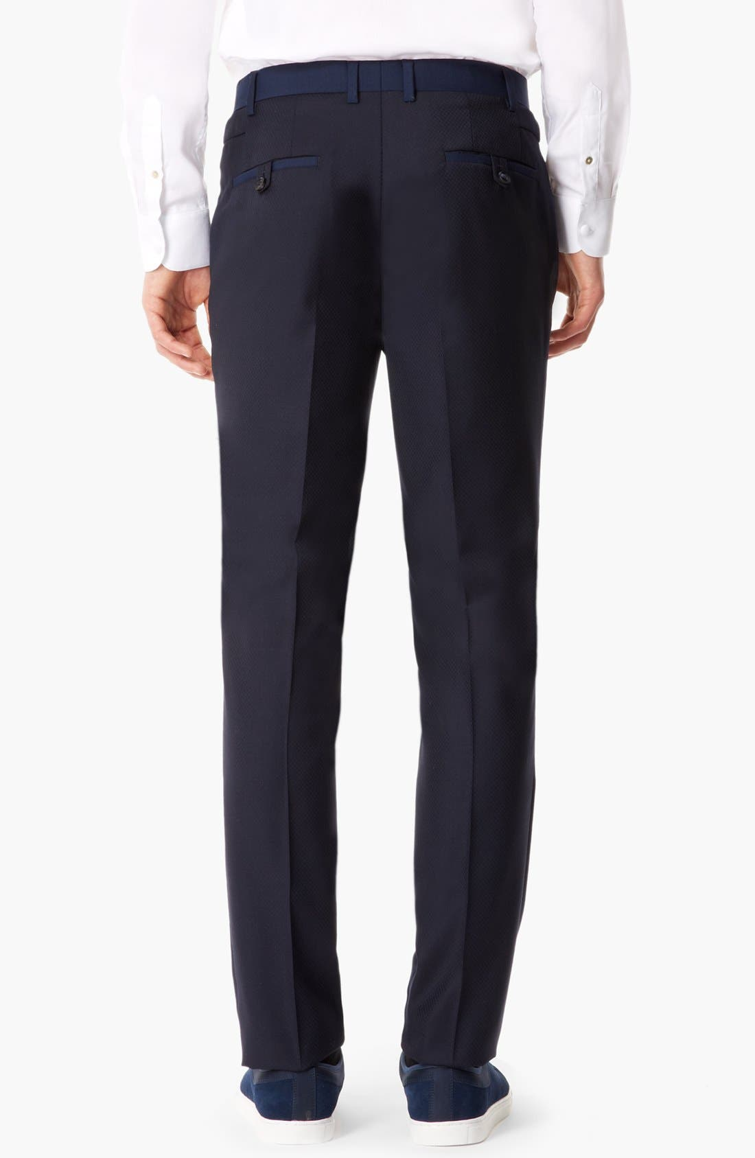 Alternate Image 2  - Topman 'Lux Collection' Slim Fit Wool Trousers