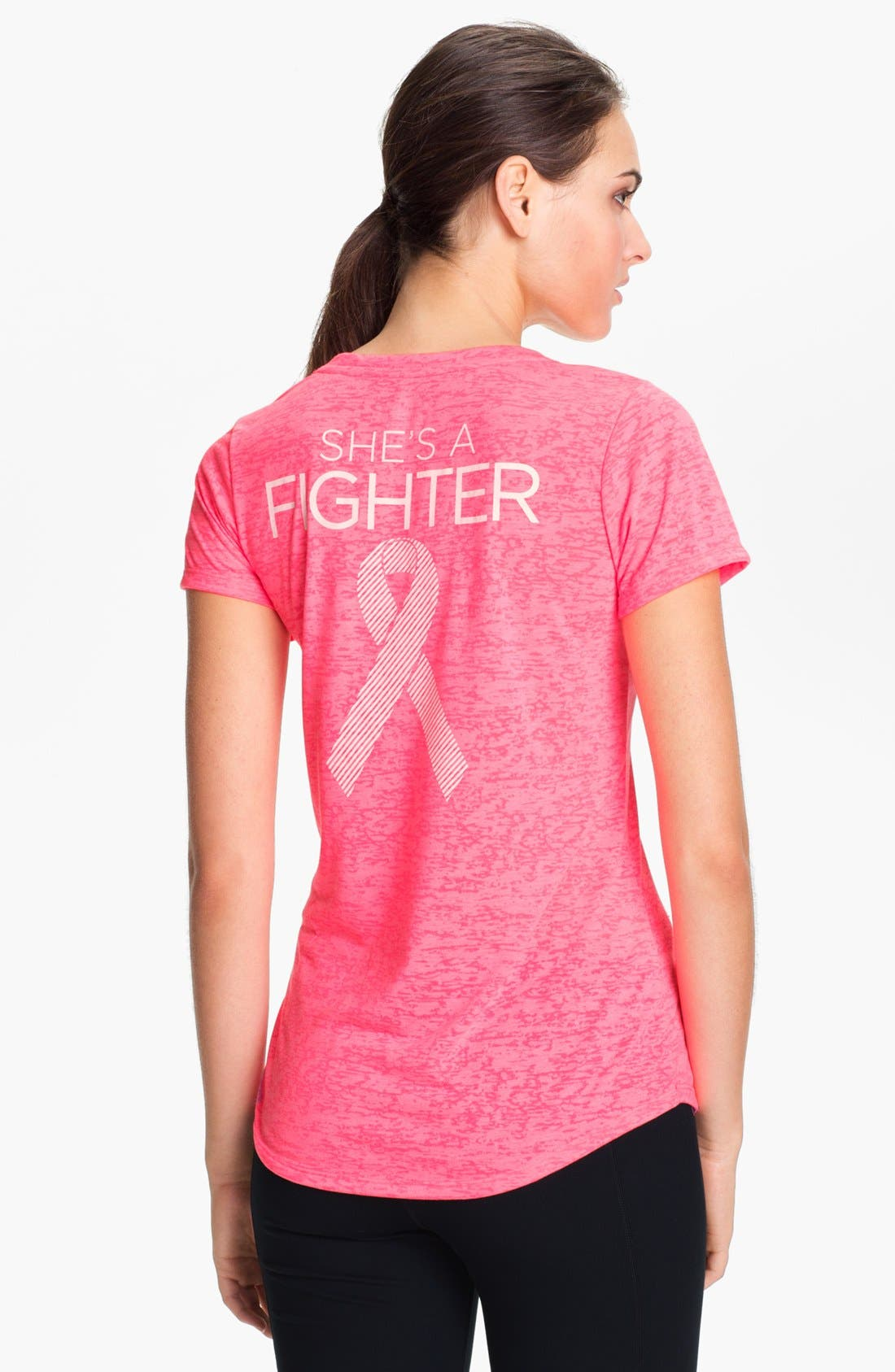 Main Image - Under Armour 'Power in Pink - She's a Fighter' Tee