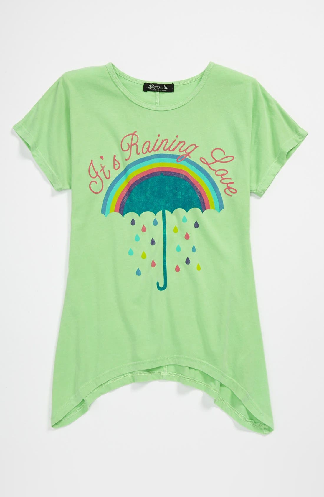 Alternate Image 1 Selected - Signorelli Rainbow Graphic Tee (Big Girls)