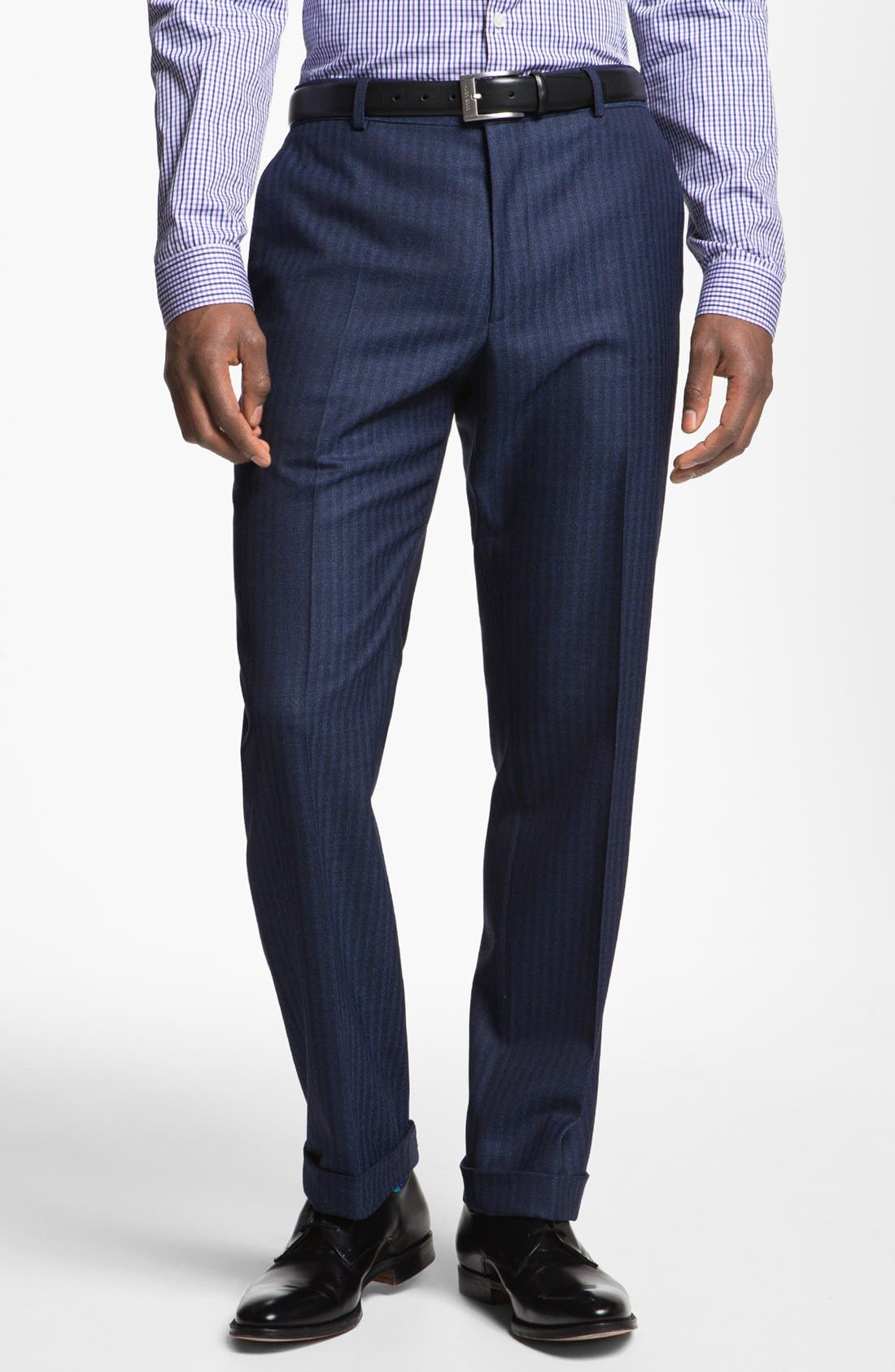Alternate Image 5  - Paul Smith London Slim Fit Stripe Wool Suit