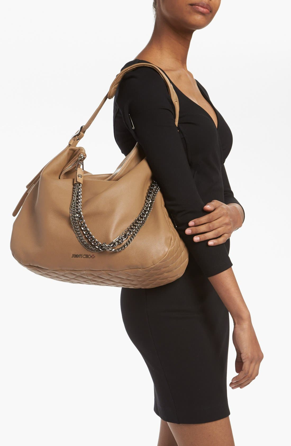 Alternate Image 2  - Jimmy Choo 'Large Boho' Leather Hobo