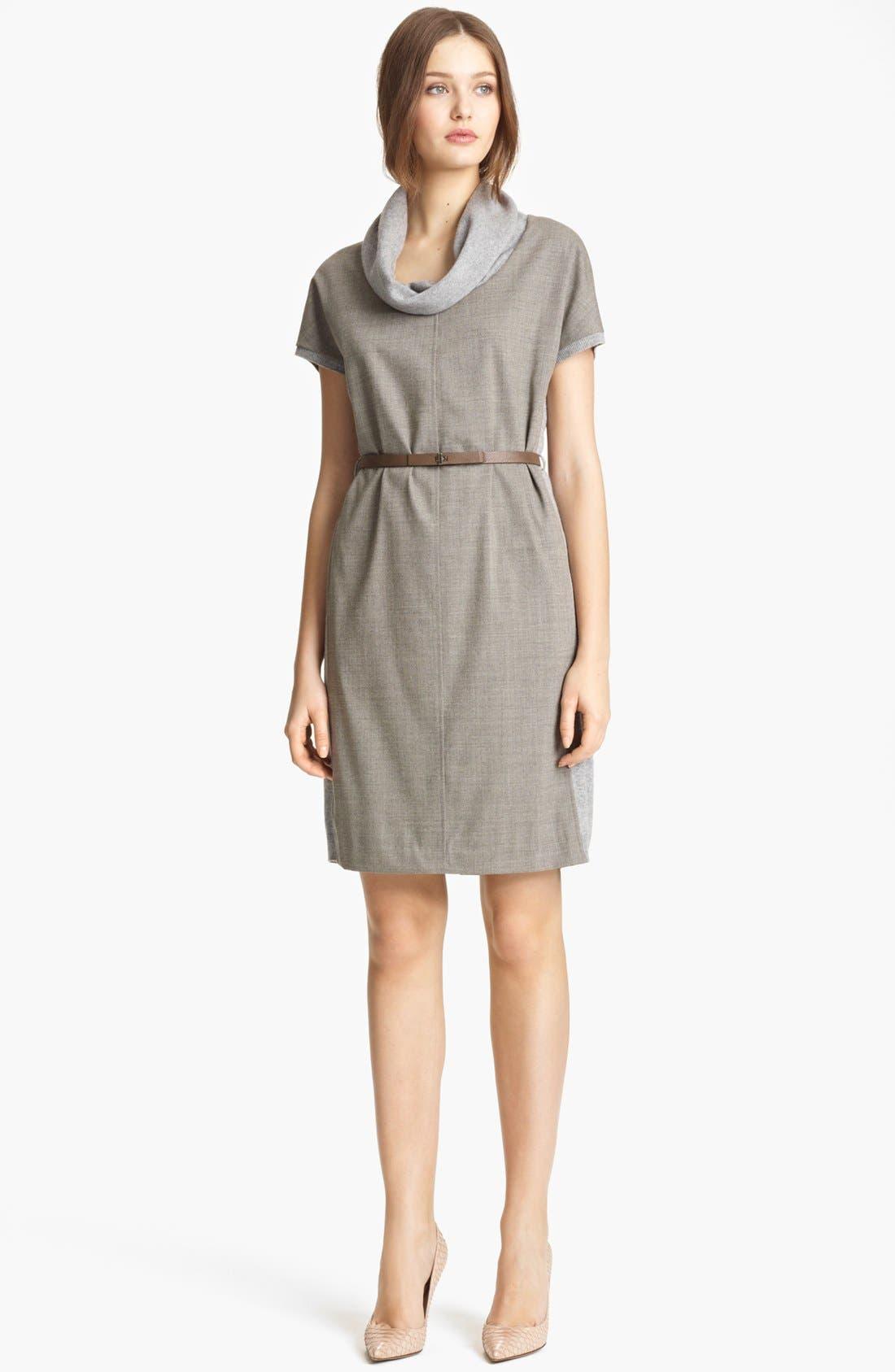 Alternate Image 1 Selected - Fabiana Filippi Wool Front Sweater Dress