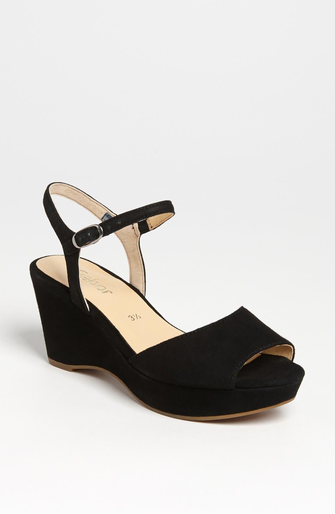 Main Image - Gabor Wedge Sandal (Online Only)