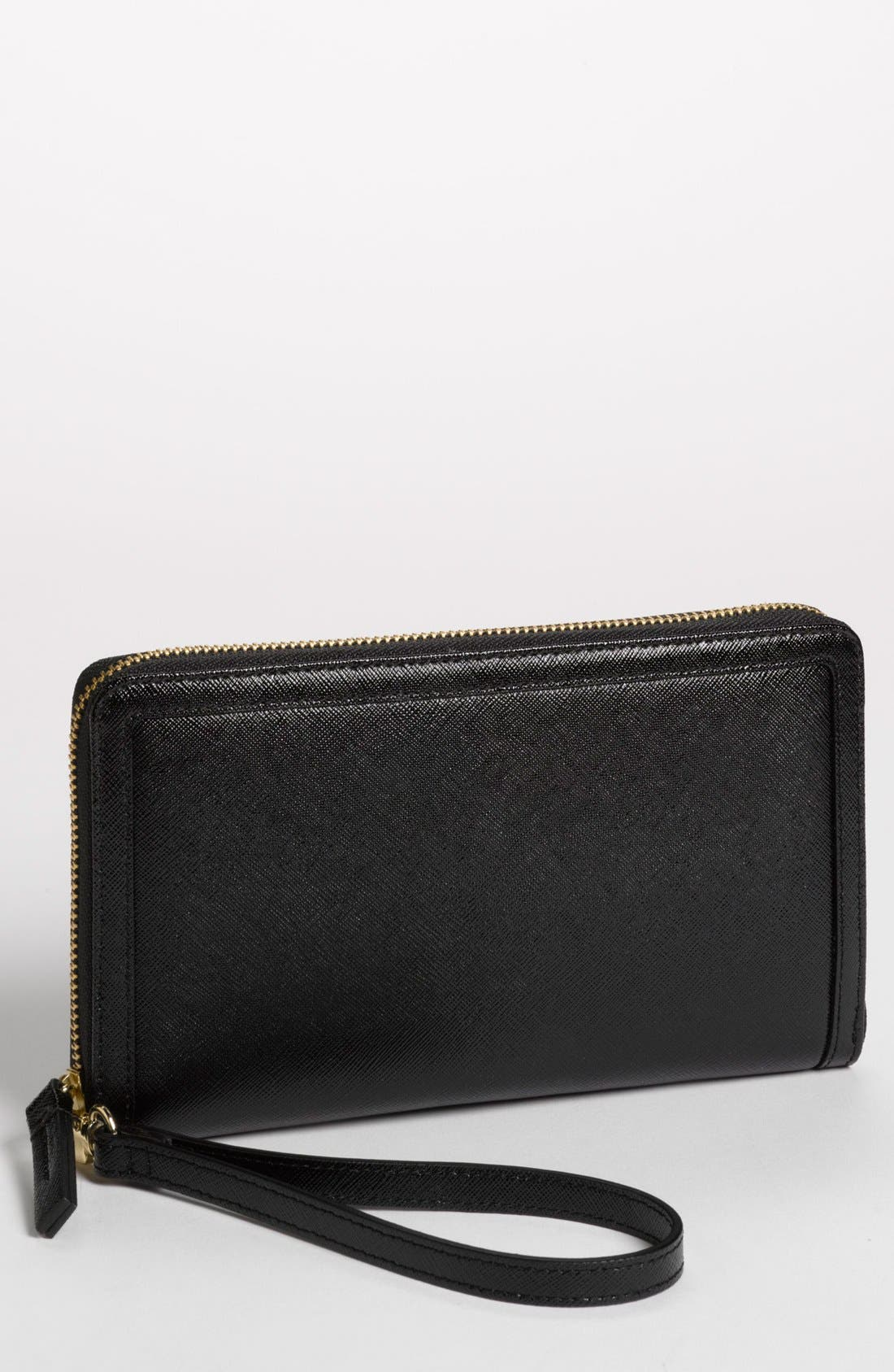 Zip Around Wallet,                         Main,                         color, Black
