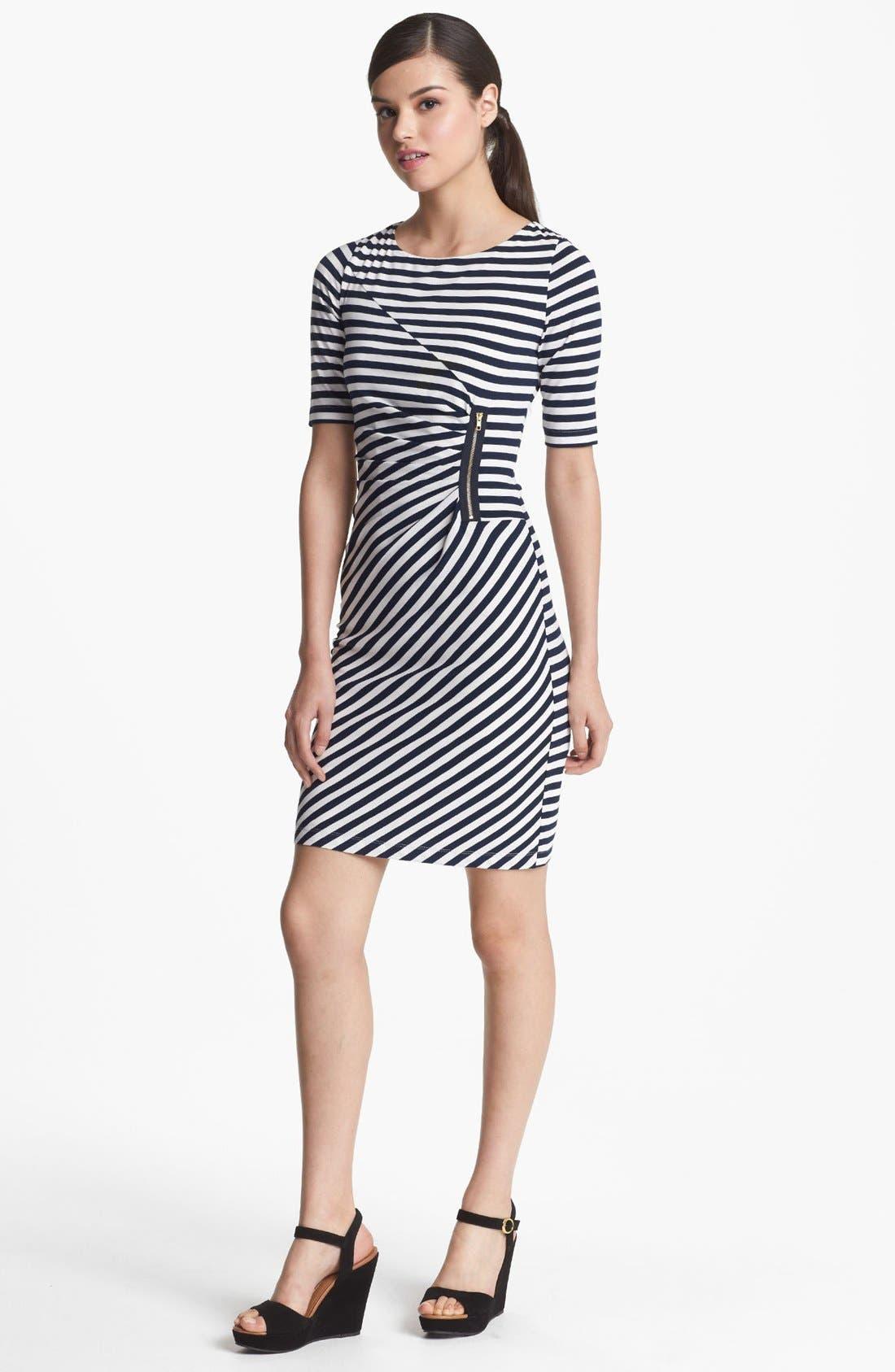 Alternate Image 1 Selected - Tahari Stripe Jersey Sheath Dress