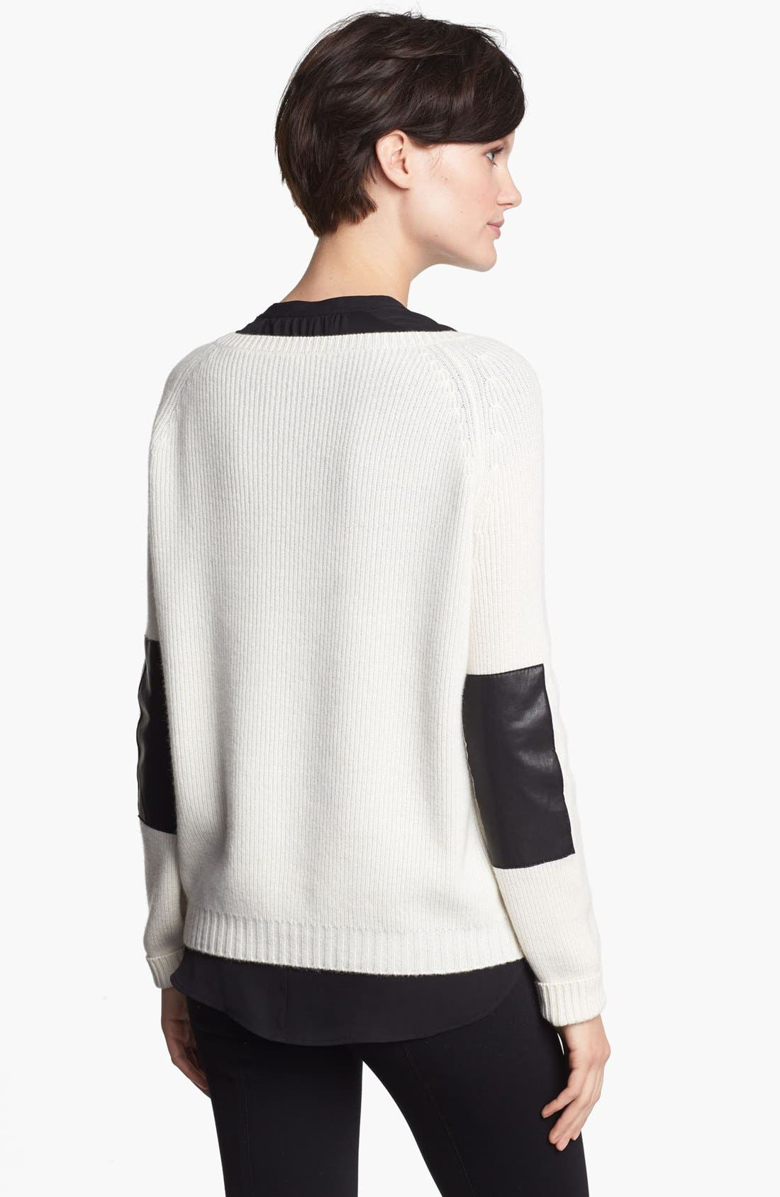 Alternate Image 2  - Vince Elbow Patch Sweater