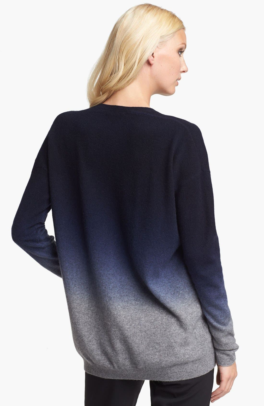 Alternate Image 2  - Vince Oversized Dip Dye Cashmere Blend Sweater