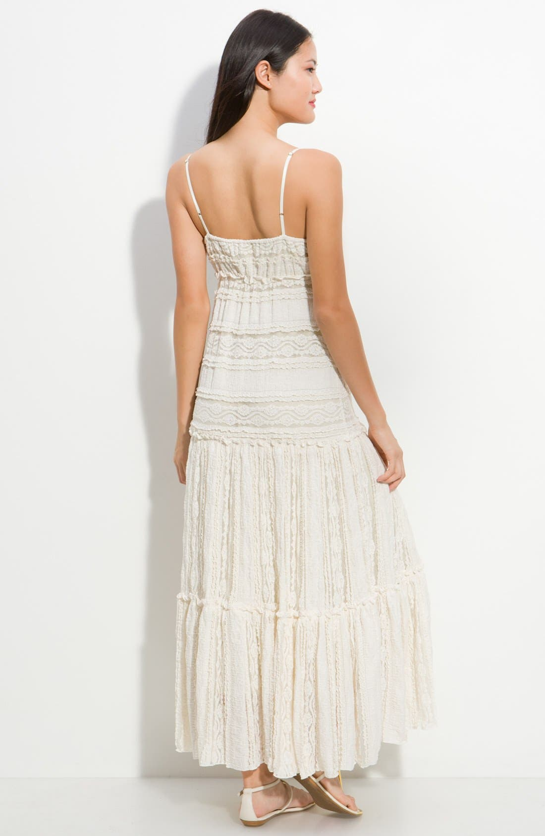 Alternate Image 2  - Eliza J Tiered Lace Maxi Dress