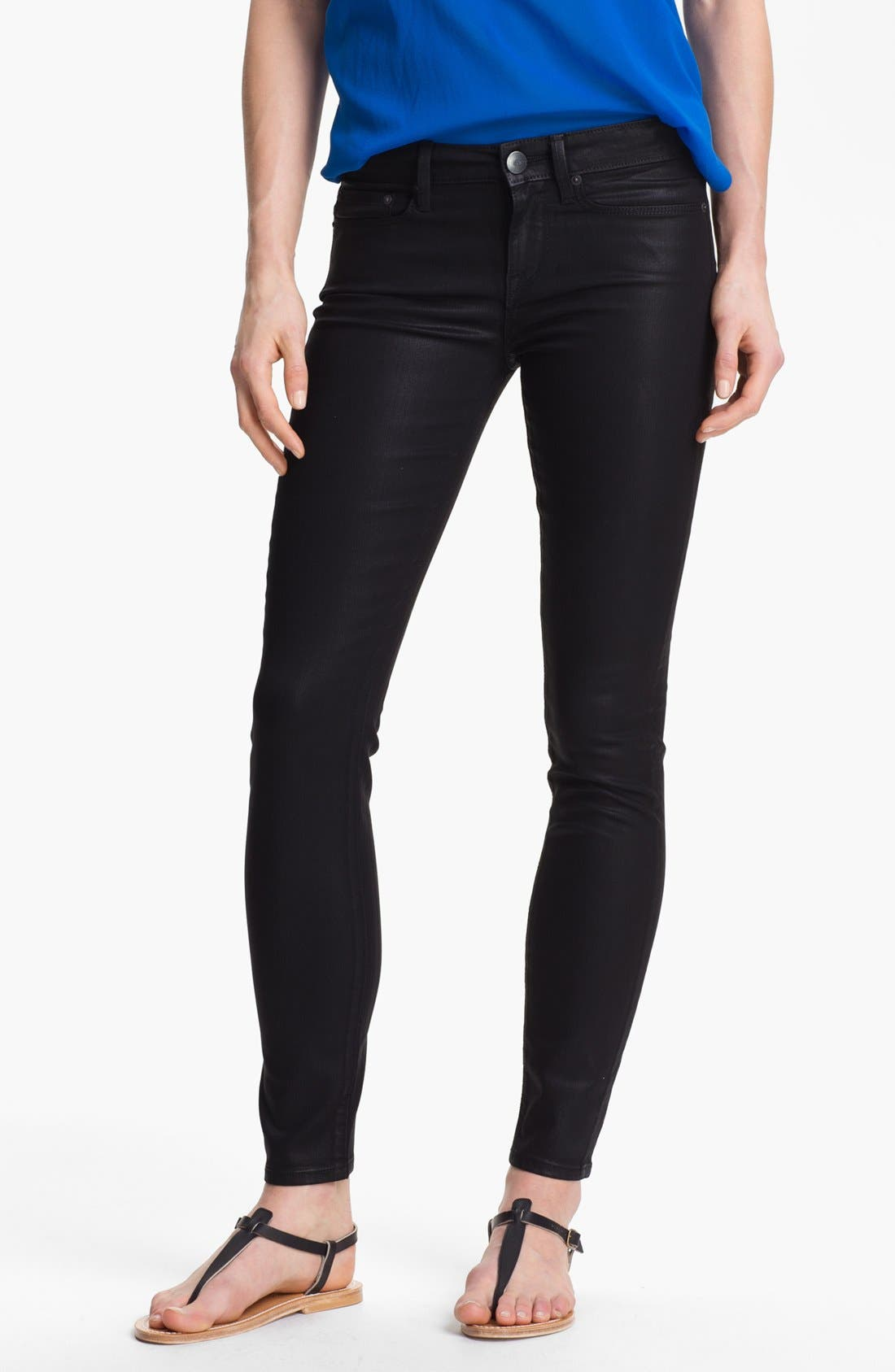 Alternate Image 1 Selected - Vince Coated Skinny Stretch Jeans