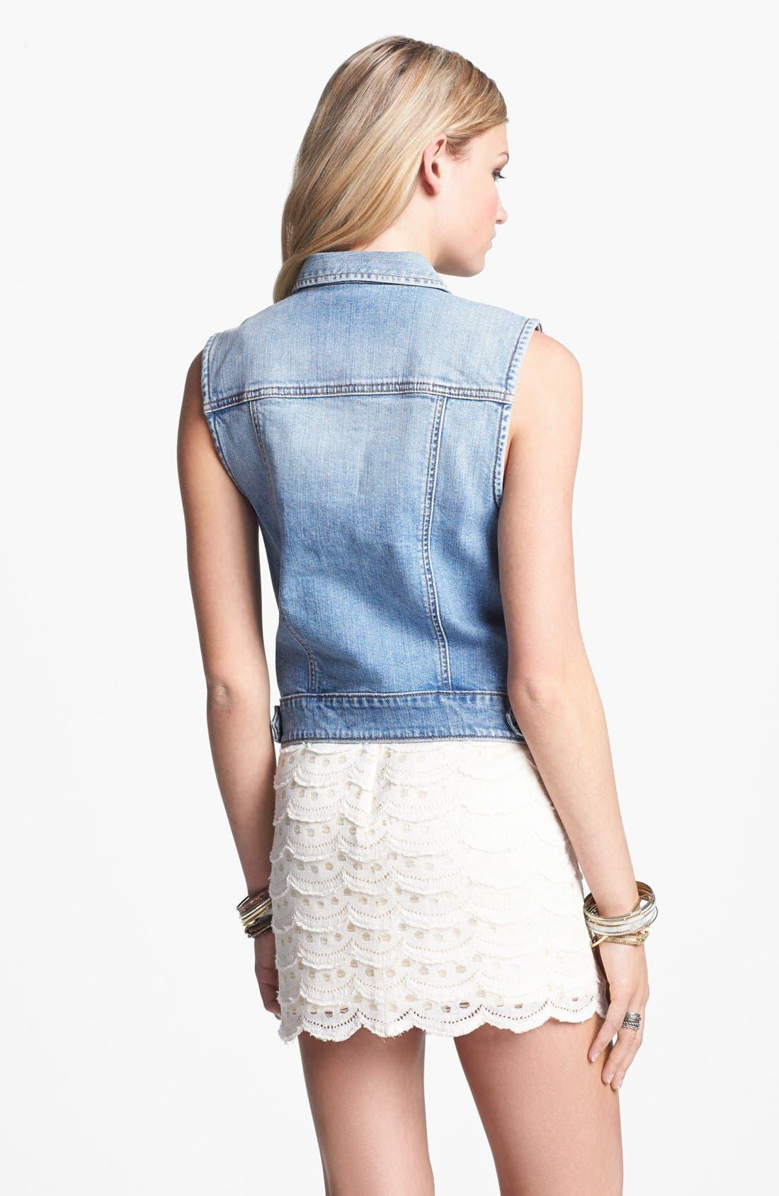 Alternate Image 2  - BCNU Scallop Lace Skirt (Juniors)