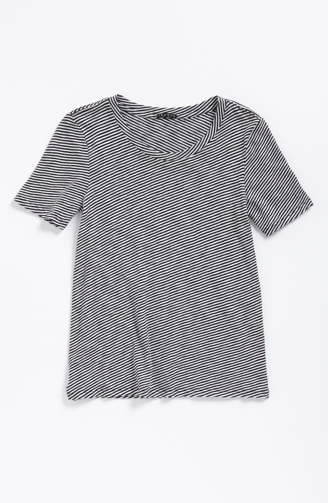 Alternate Image 5  - Theory 'Bowis' Stripe Tee