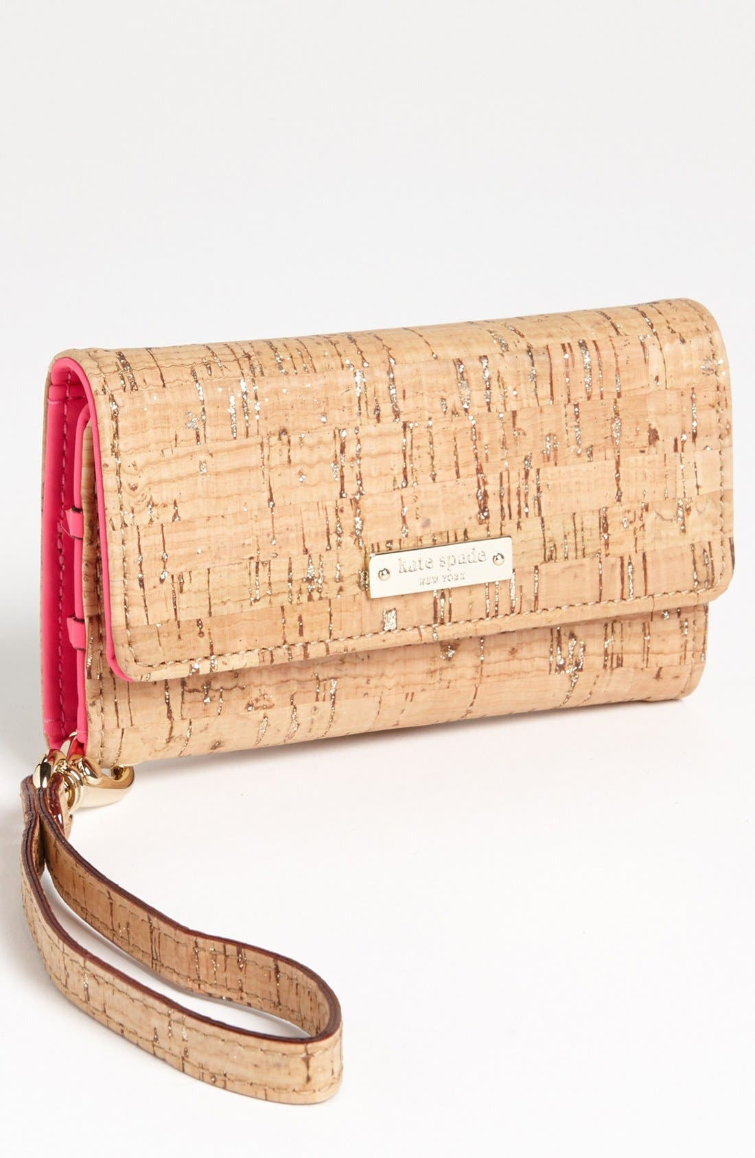Alternate Image 1 Selected - kate spade new york 'summer cork' iPhone 5 & 5S wristlet