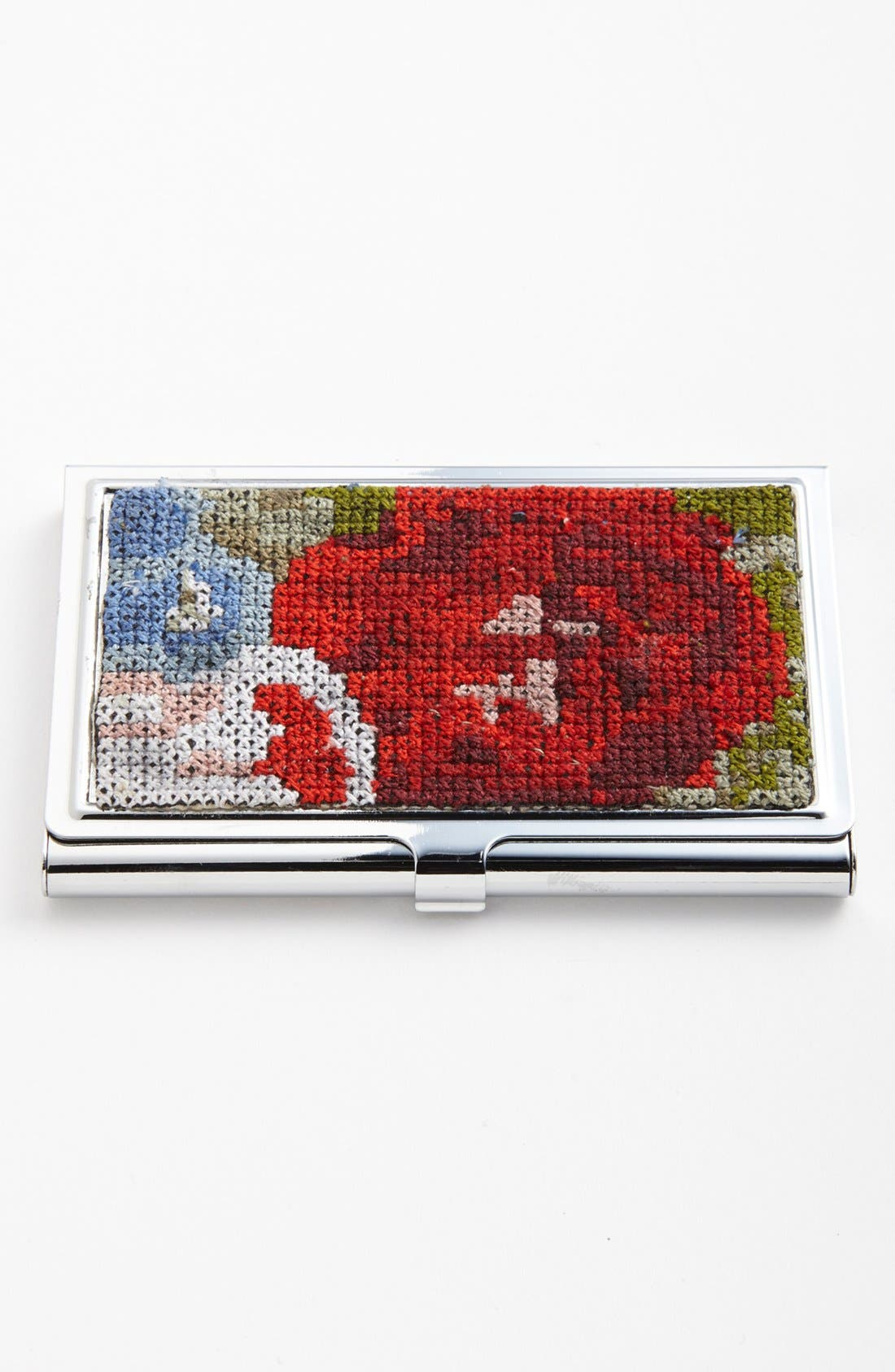 Alternate Image 1 Selected - Spring Street Cross Stitched Card Case