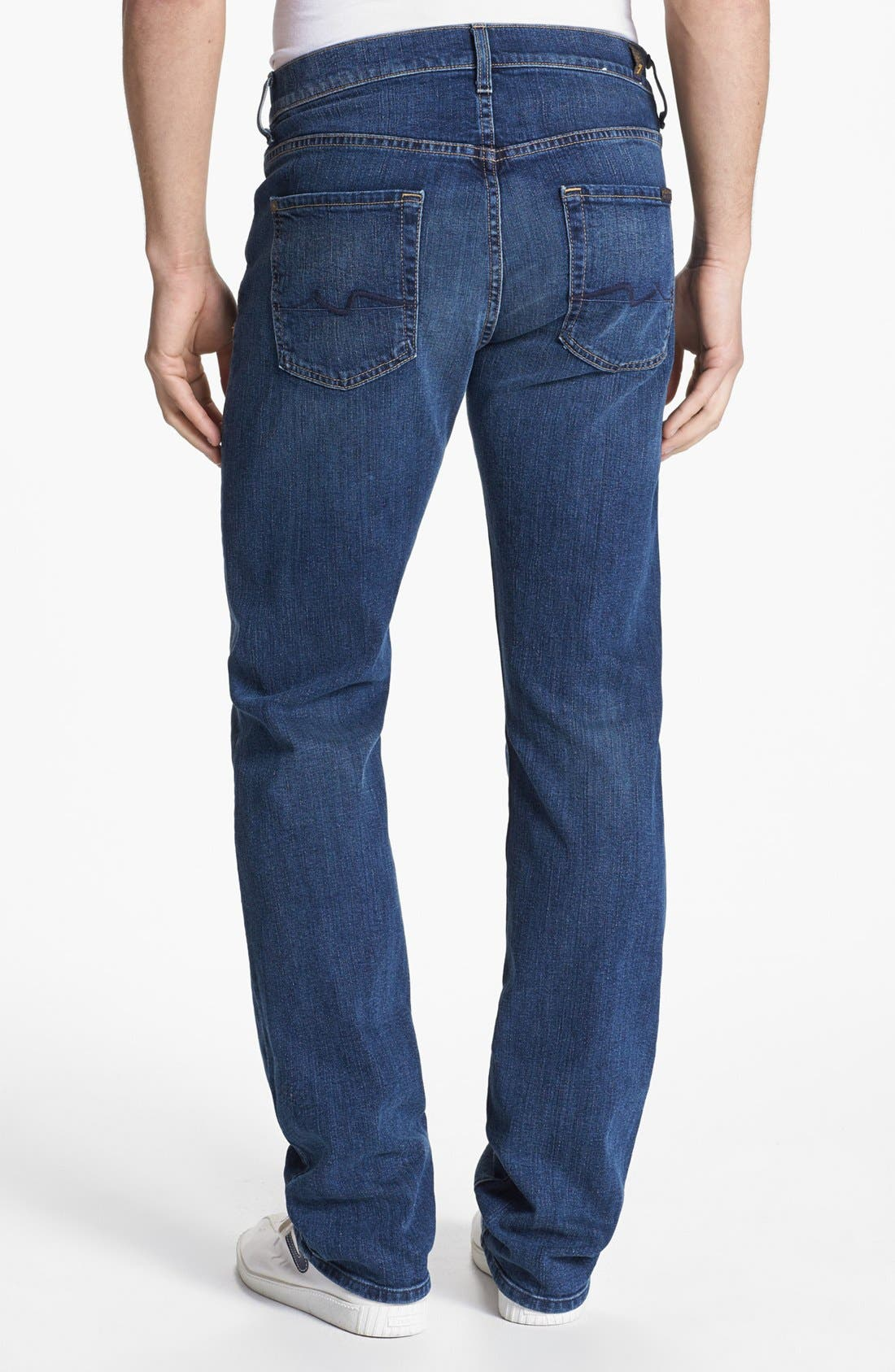 Alternate Image 1 Selected - 7 For All Mankind® 'Carsen' Straight Leg Jeans (Tinted Authentic)
