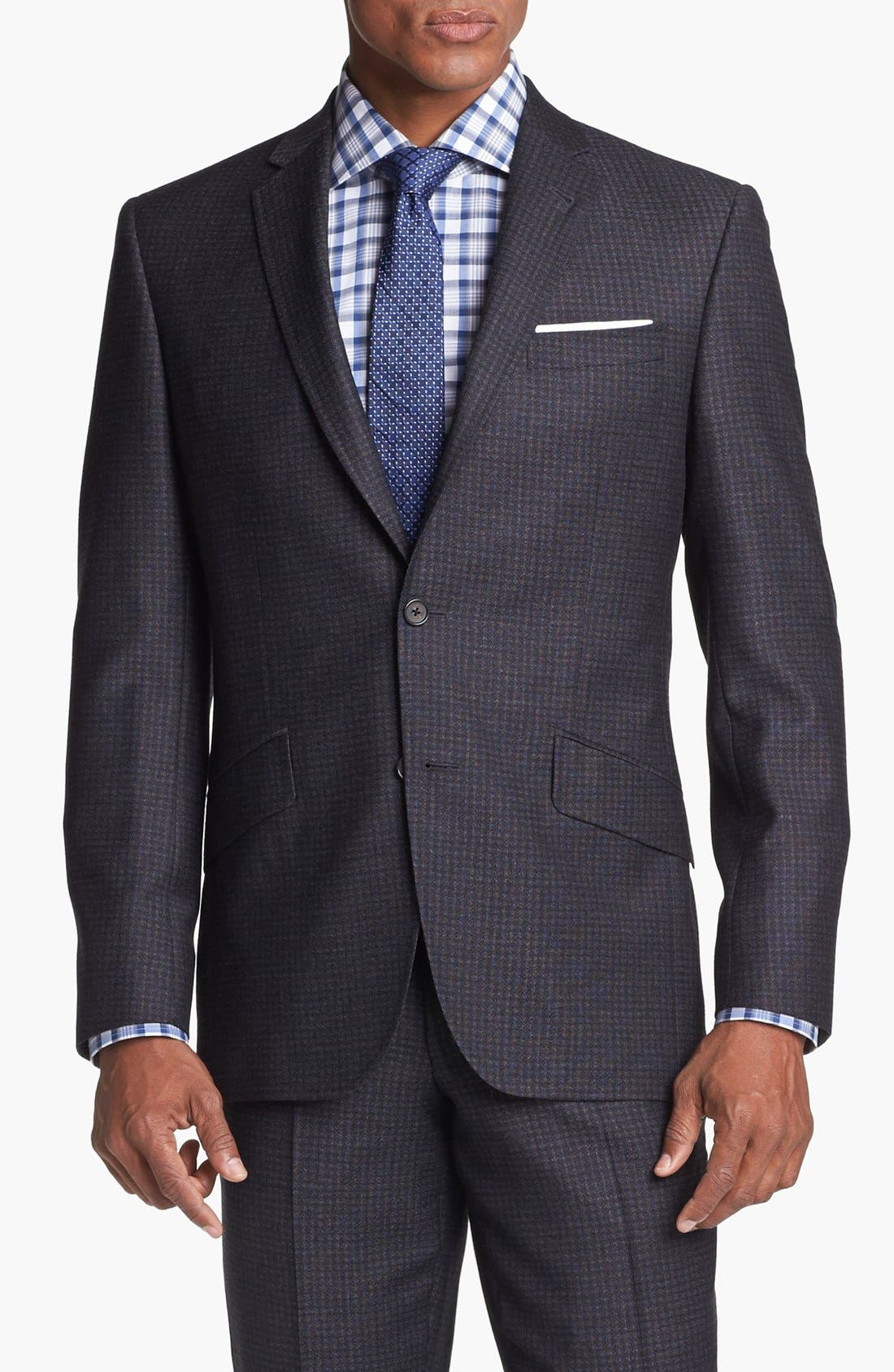 Alternate Image 4  - Ted Baker London 'Jones' Trim Fit Check Suit (Online Only)