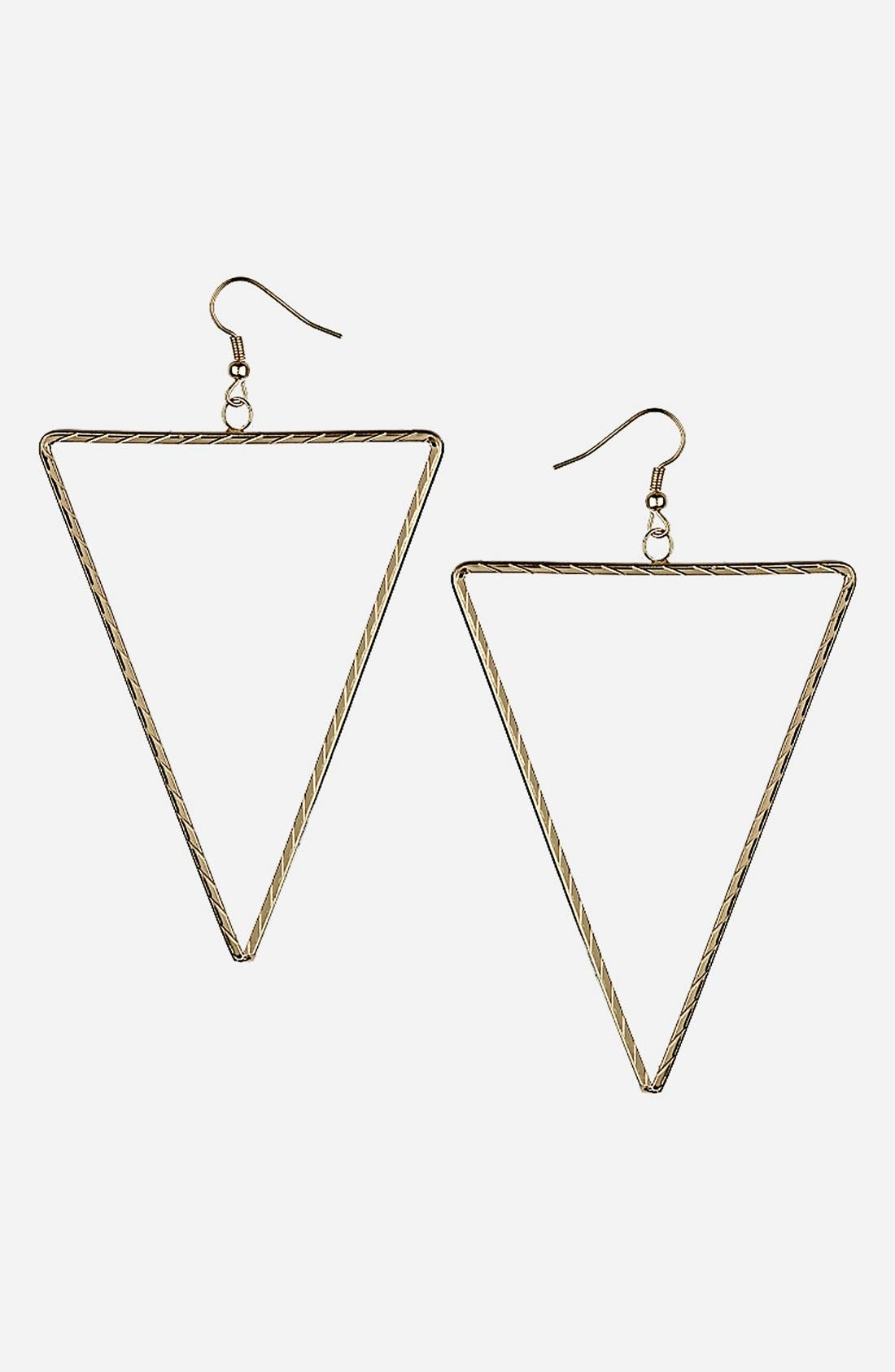 Alternate Image 1 Selected - Topshop Triangle Earrings