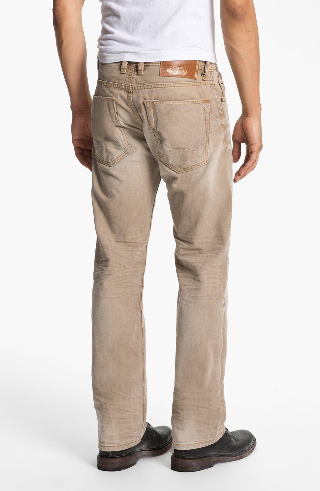 Main Image - Cult of Individuality 'Rebel' Straight Leg Jeans (Desert)