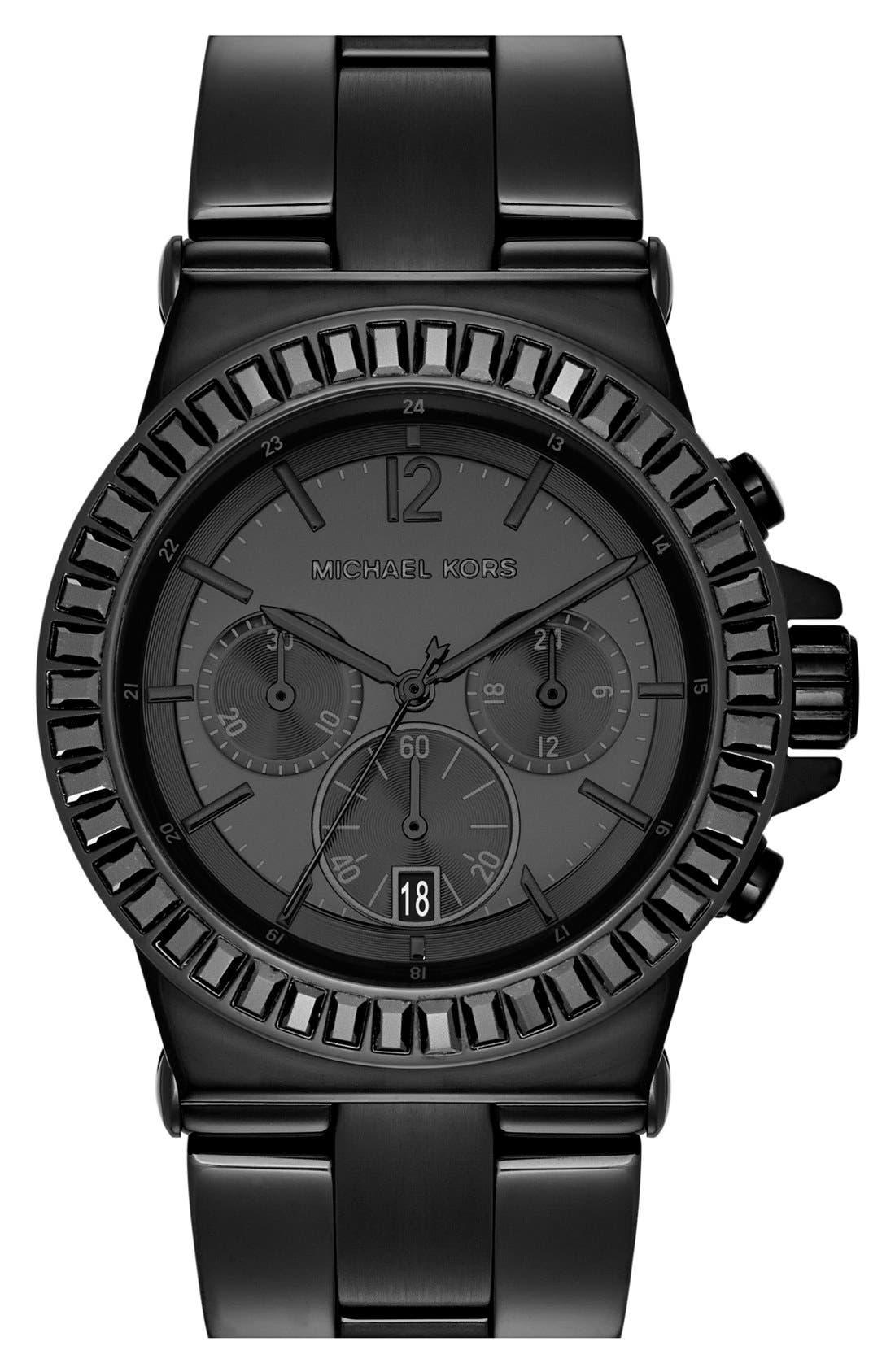 Main Image - Michael Kors 'Dylan' Crystal Bezel Chronograph Watch, 43mm