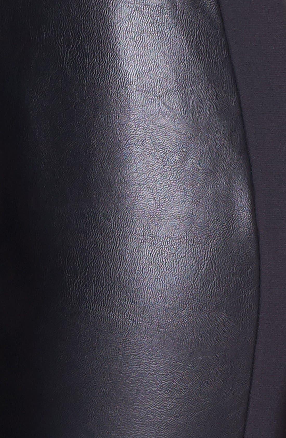 Alternate Image 3  - NYDJ Faux Leather & Stretch Ponte Leggings (Regular & Petite)