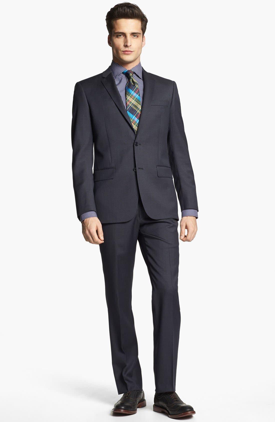Alternate Image 1 Selected - John Varvatos Star USA 'Townshend' Trim Fit Wool Suit