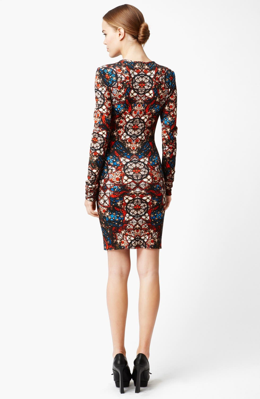 Alternate Image 2  - Alexander McQueen Stained Glass Print Jersey Dress