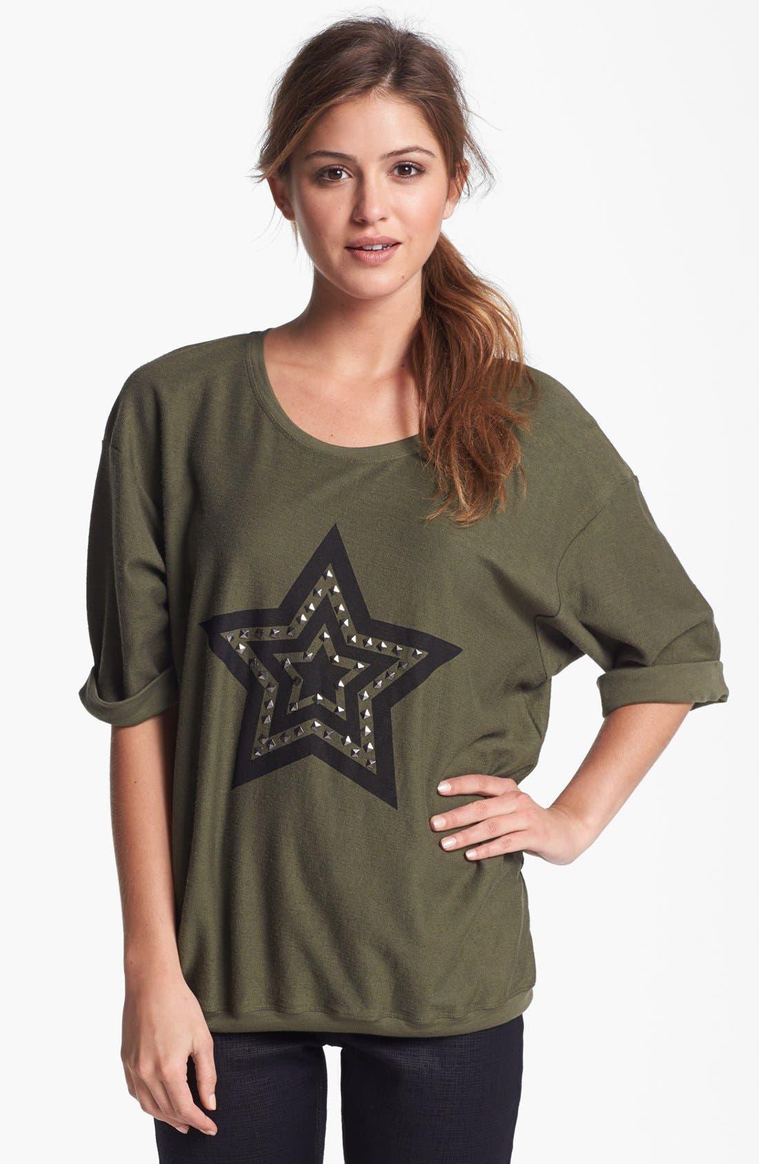 Main Image - Max & Mia Studded Graphic Sweatshirt