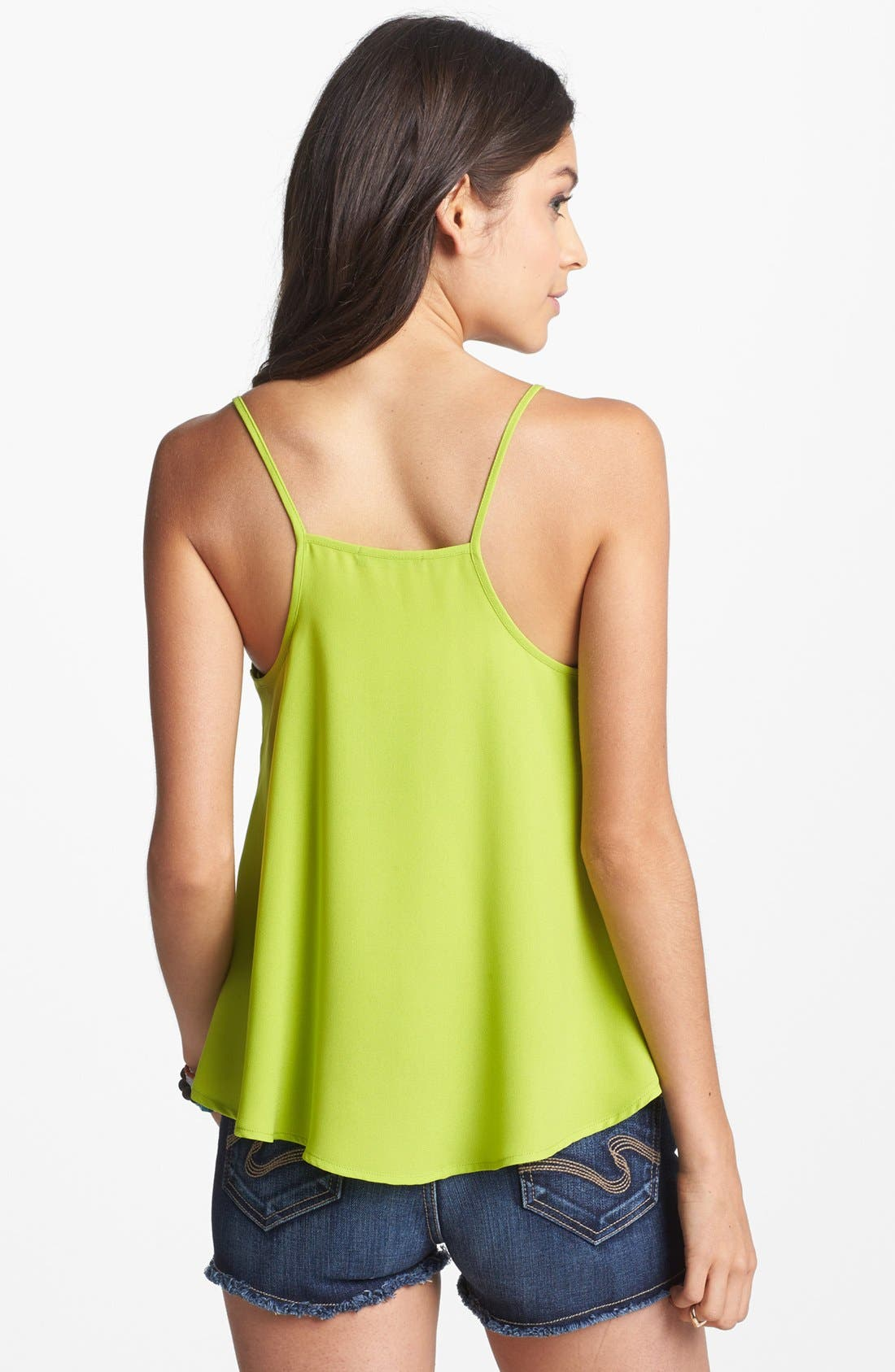 Alternate Image 2  - Soprano Woven Crop Cami (Juniors)