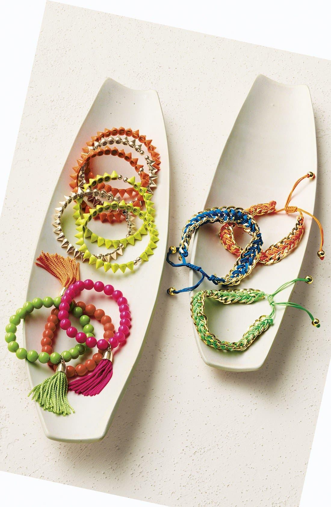 Alternate Image 3  - Tasha Spike Stretch Bracelets (Set of 3)