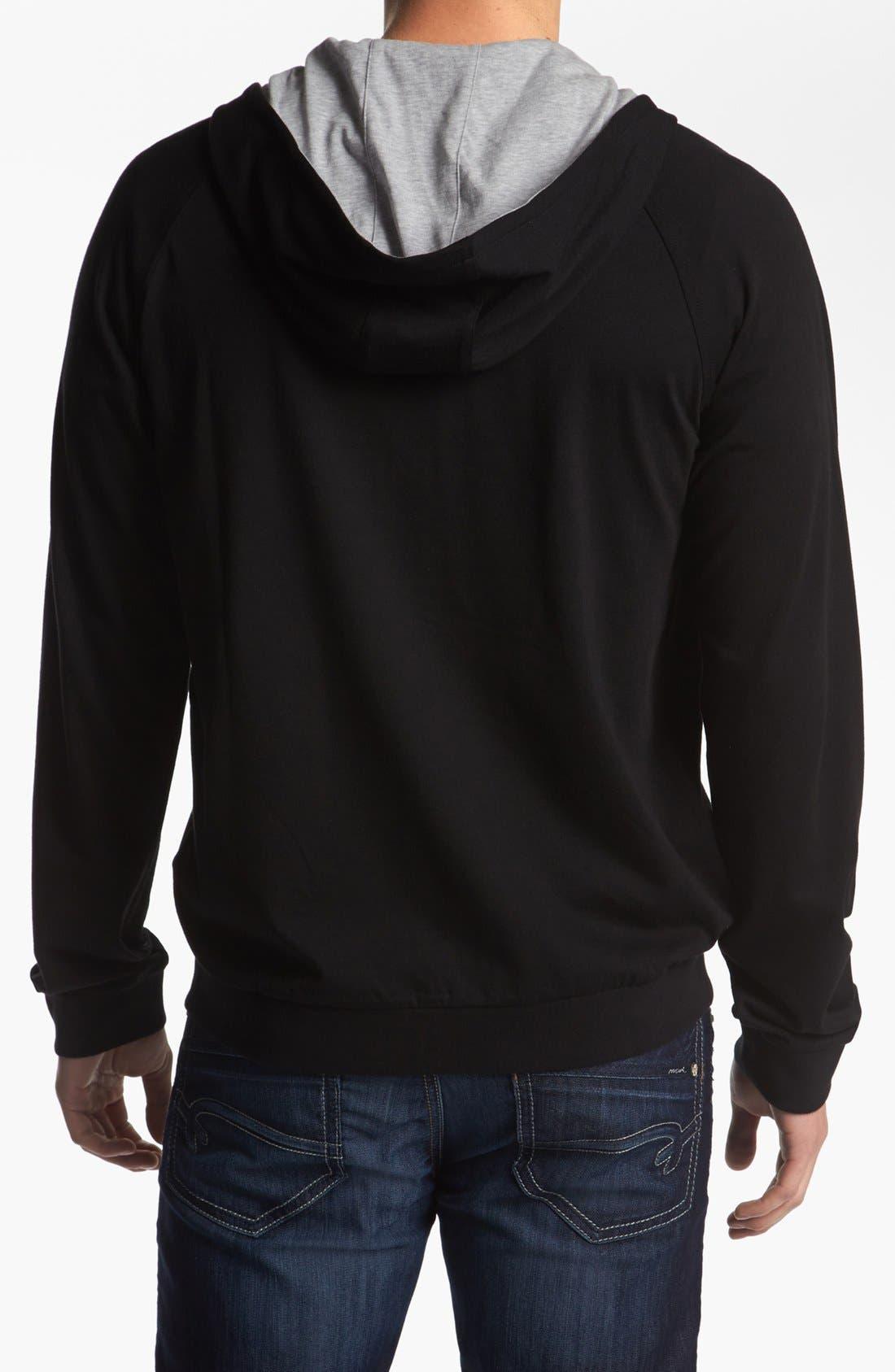 Alternate Image 2  - BOSS HUGO BOSS Cotton Zip Hoodie