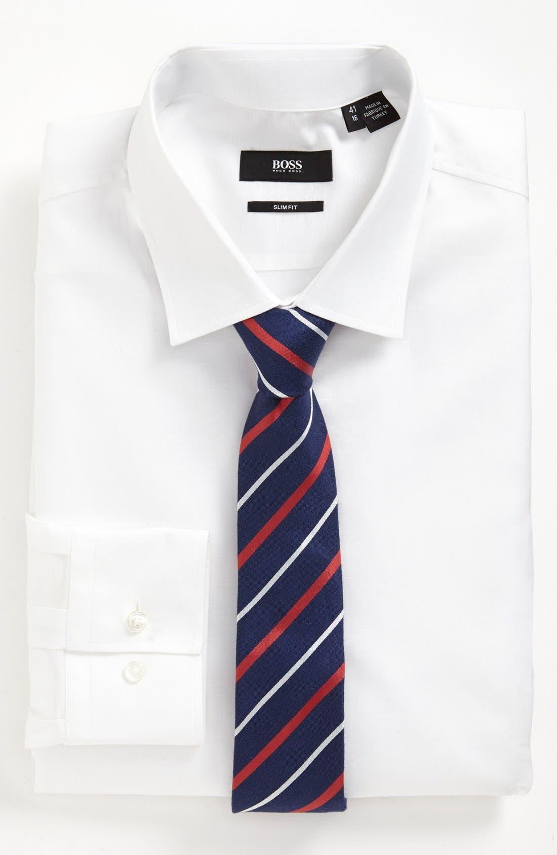 Alternate Image 3  - BOSS HUGO BOSS 'Jenno' Slim Fit Linen Dress Shirt