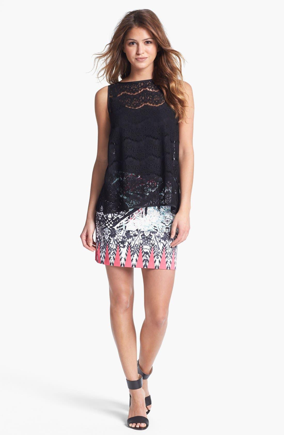 Alternate Image 4  - Kenneth Cole New York 'Juliet' Print Skirt