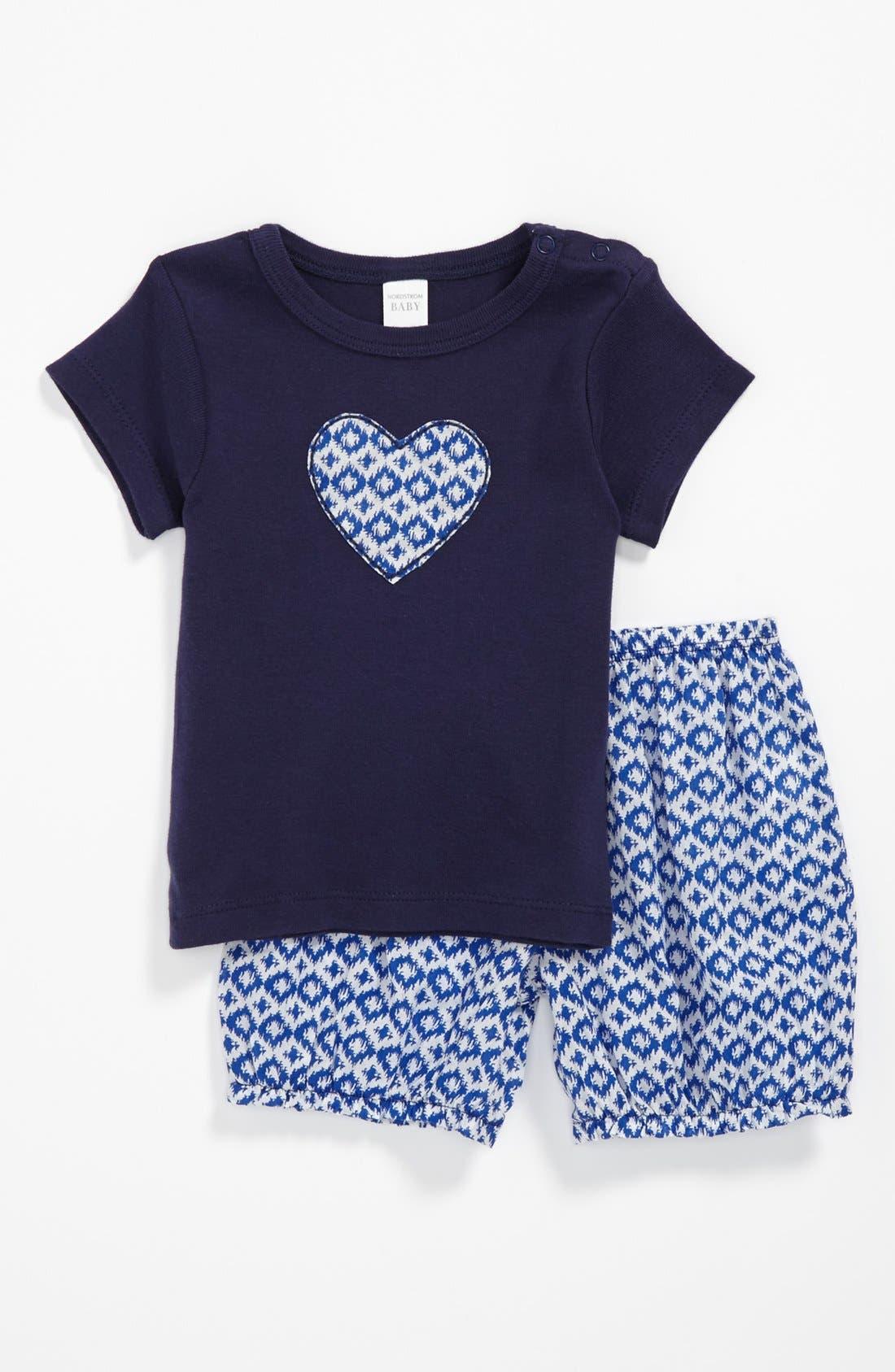 T-Shirt & Shorts,                         Main,                         color, Blue Combo