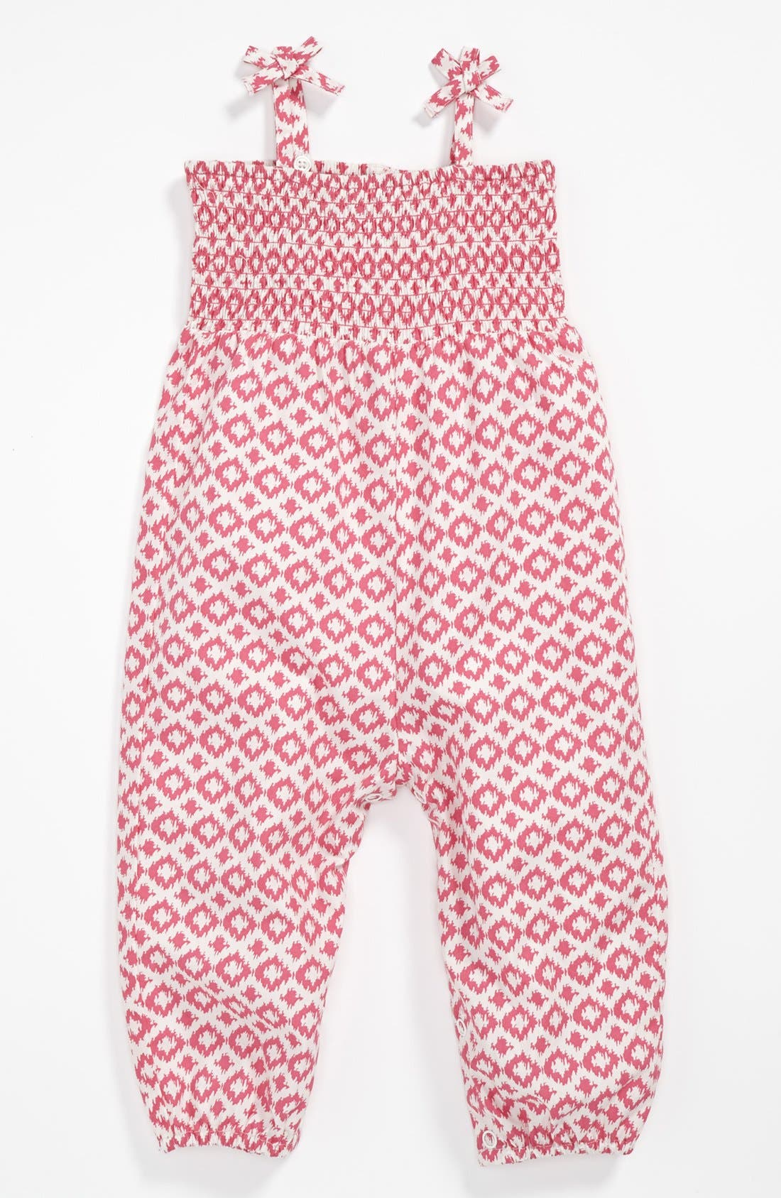 Alternate Image 1 Selected - Nordstrom Baby Printed Lawn Coveralls (Baby Girls)