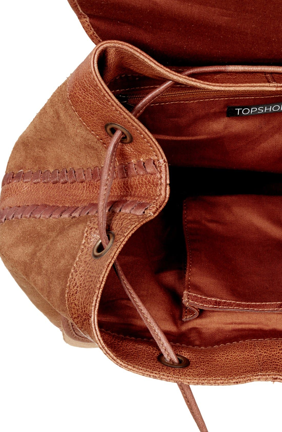 Alternate Image 4  - Topshop Suede Backpack