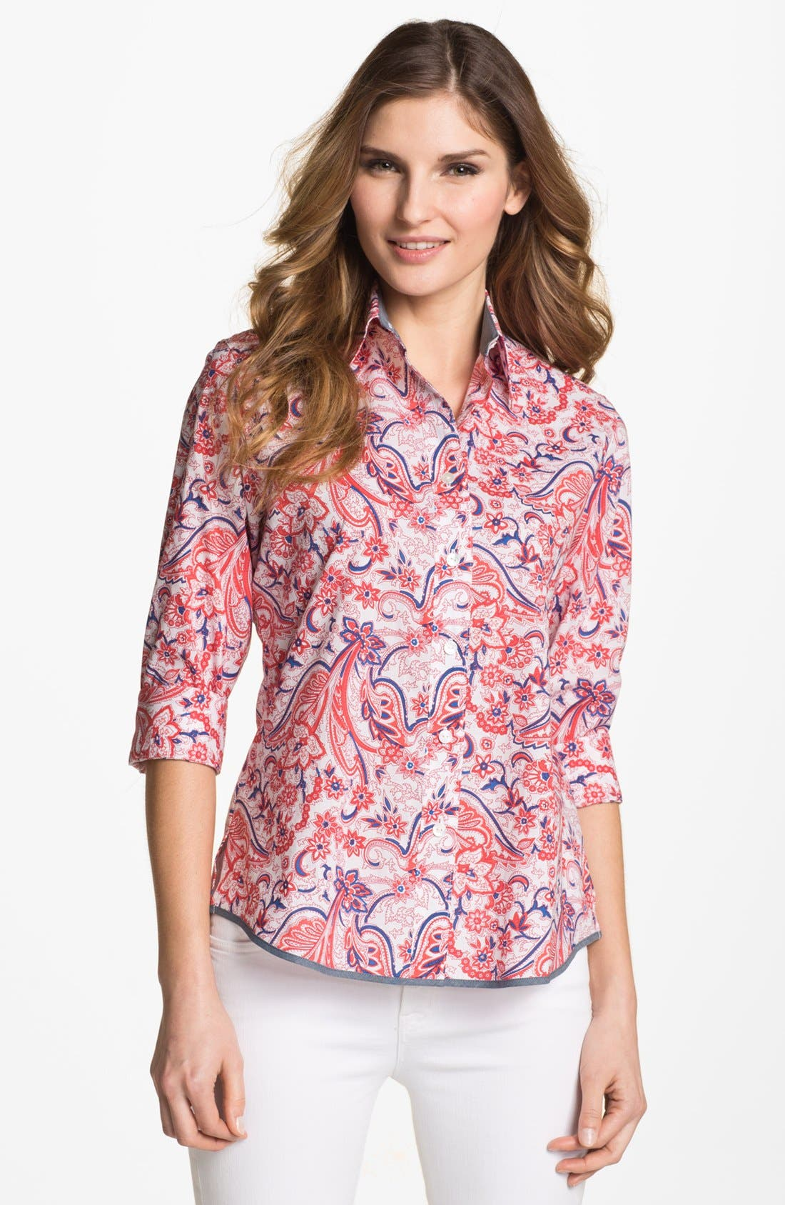 Alternate Image 1 Selected - Foxcroft Paisley Bandana Print Shirt