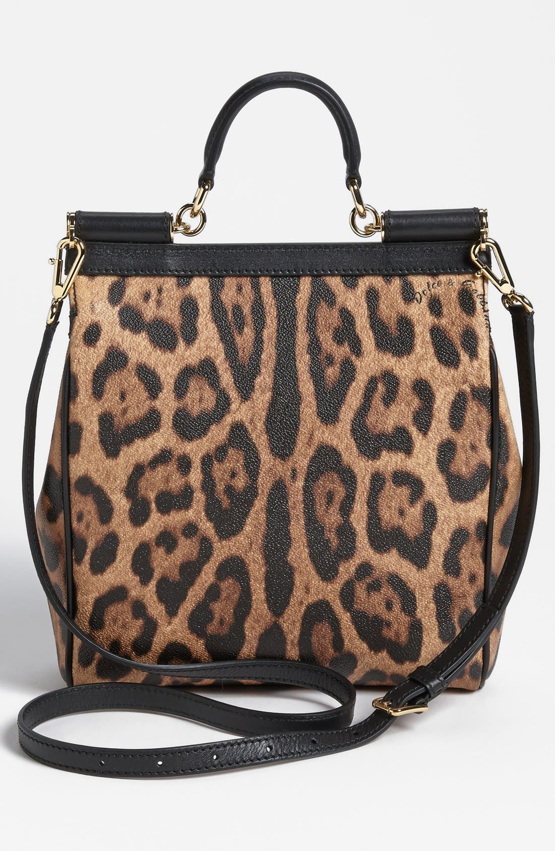 Alternate Image 4  - Dolce&Gabbana 'Miss Sicily - Slim' Leopard Print Crossbody Satchel