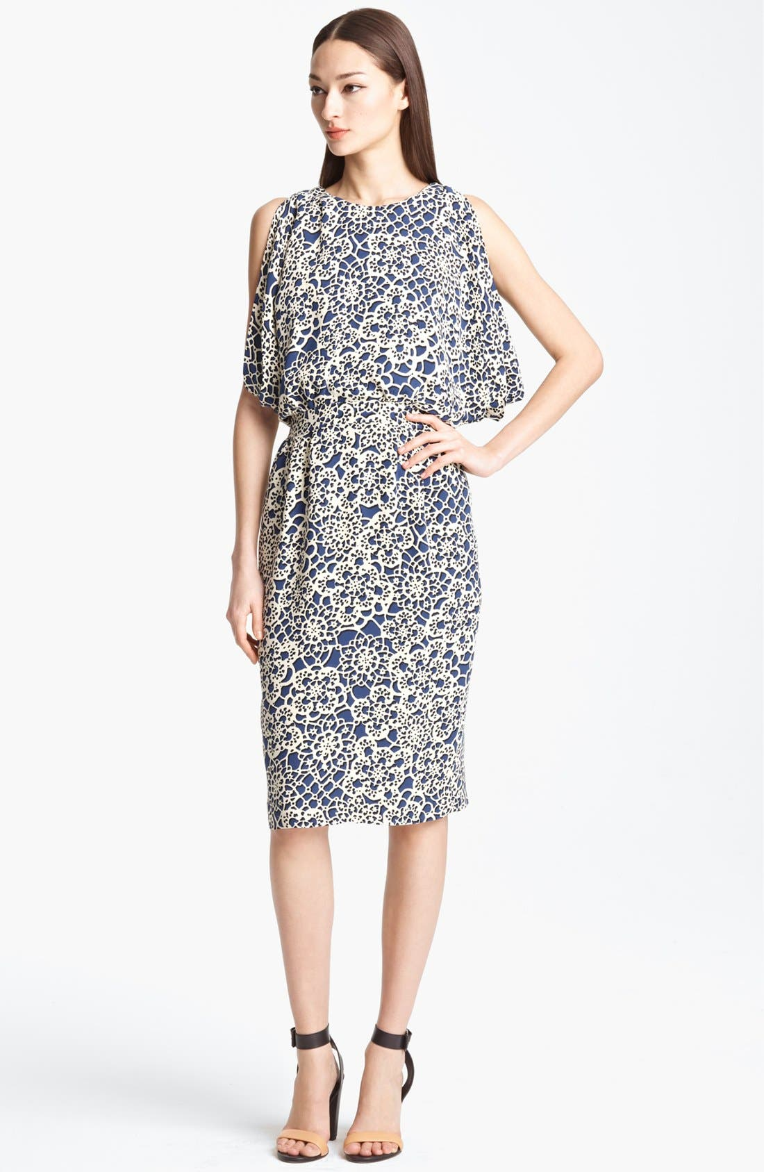 Alternate Image 1 Selected - Thakoon Open Back Print Silk Dress
