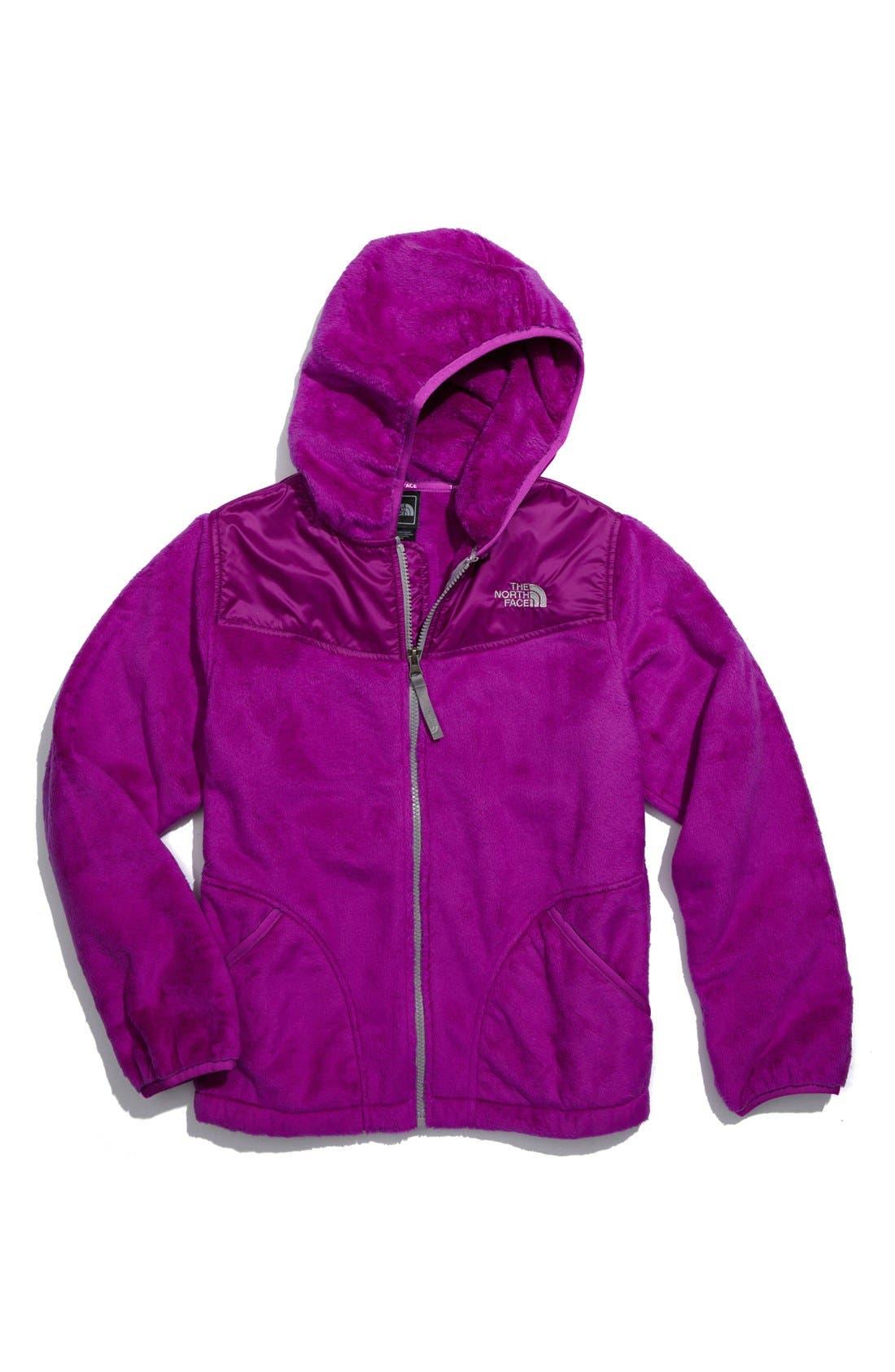 Main Image - The North Face 'Oso' Plush Fleece Hooded Jacket (Big Girls)