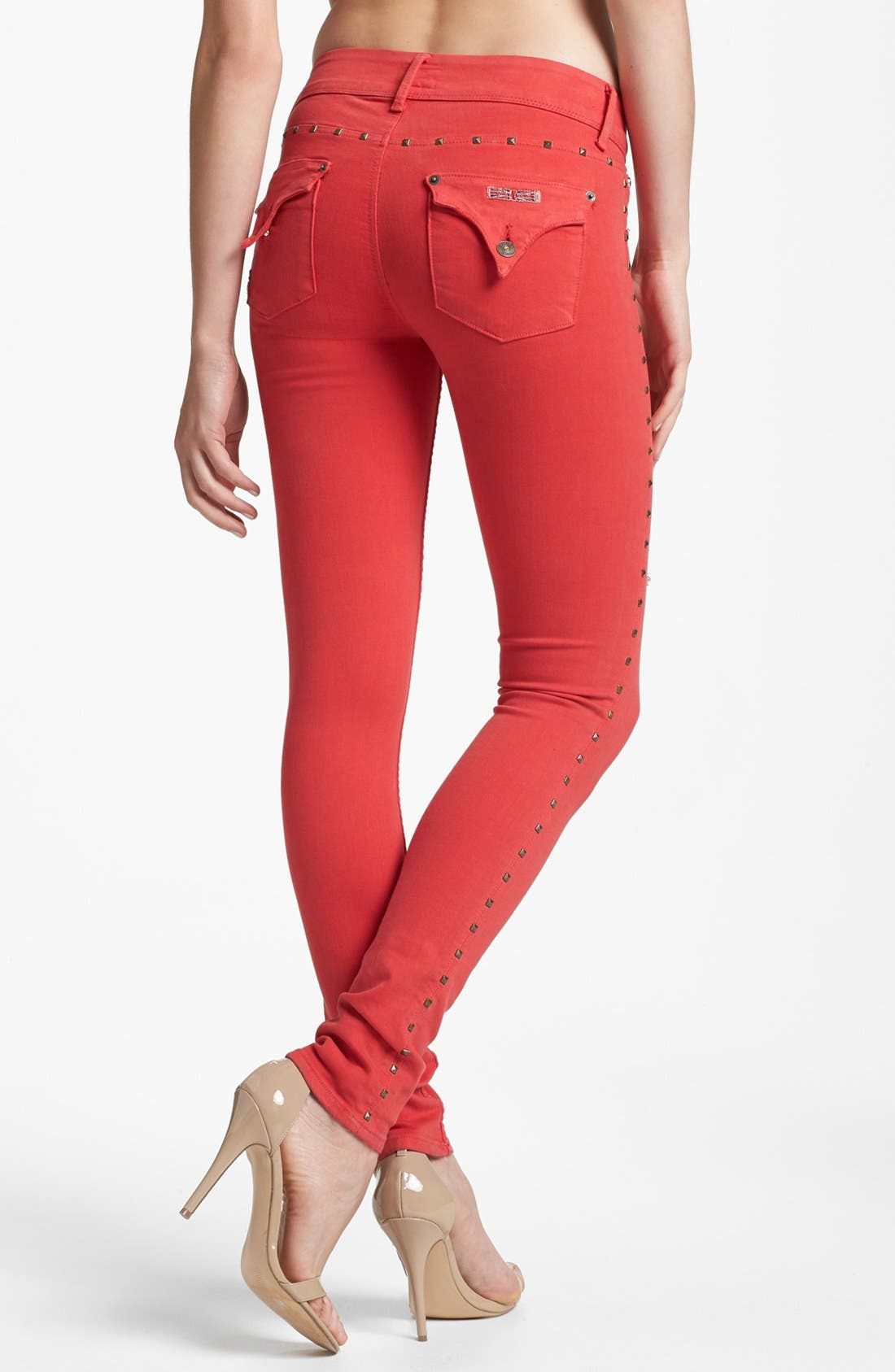 Alternate Image 2  - Hudson Jeans 'Collin' Skinny Stretch Jeans (Red Dahlia)