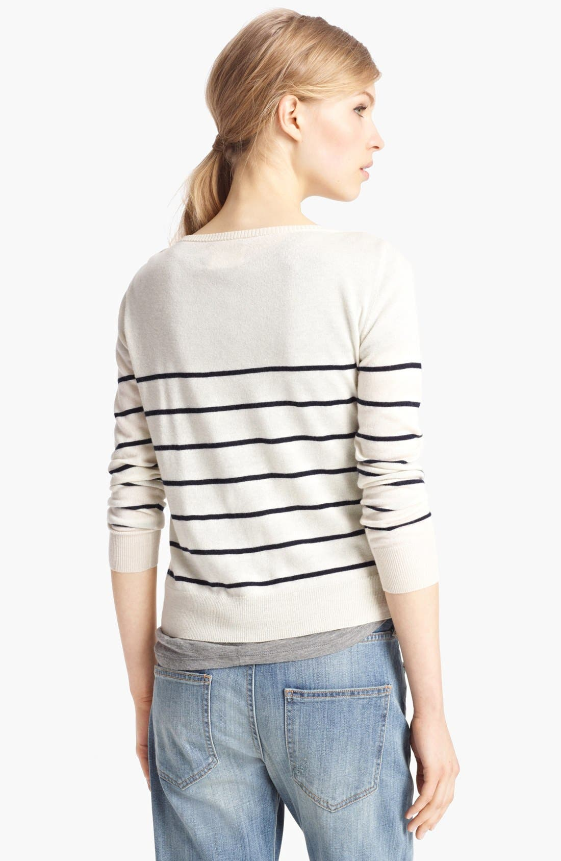 Alternate Image 2  - Band of Outsiders Contrast Pocket Sweater