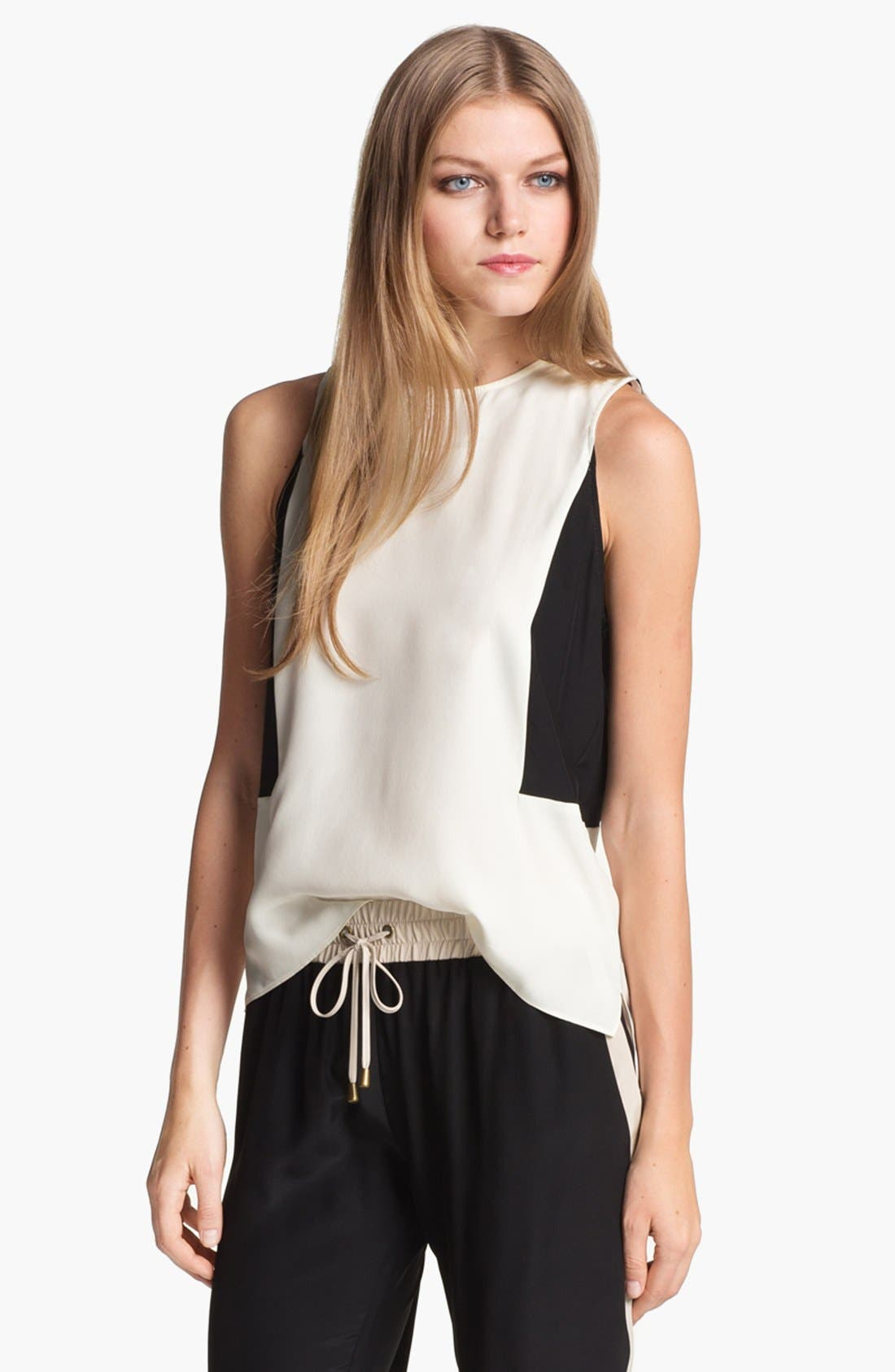 Alternate Image 1 Selected - Parker 'Gina' Colorblock Silk Top
