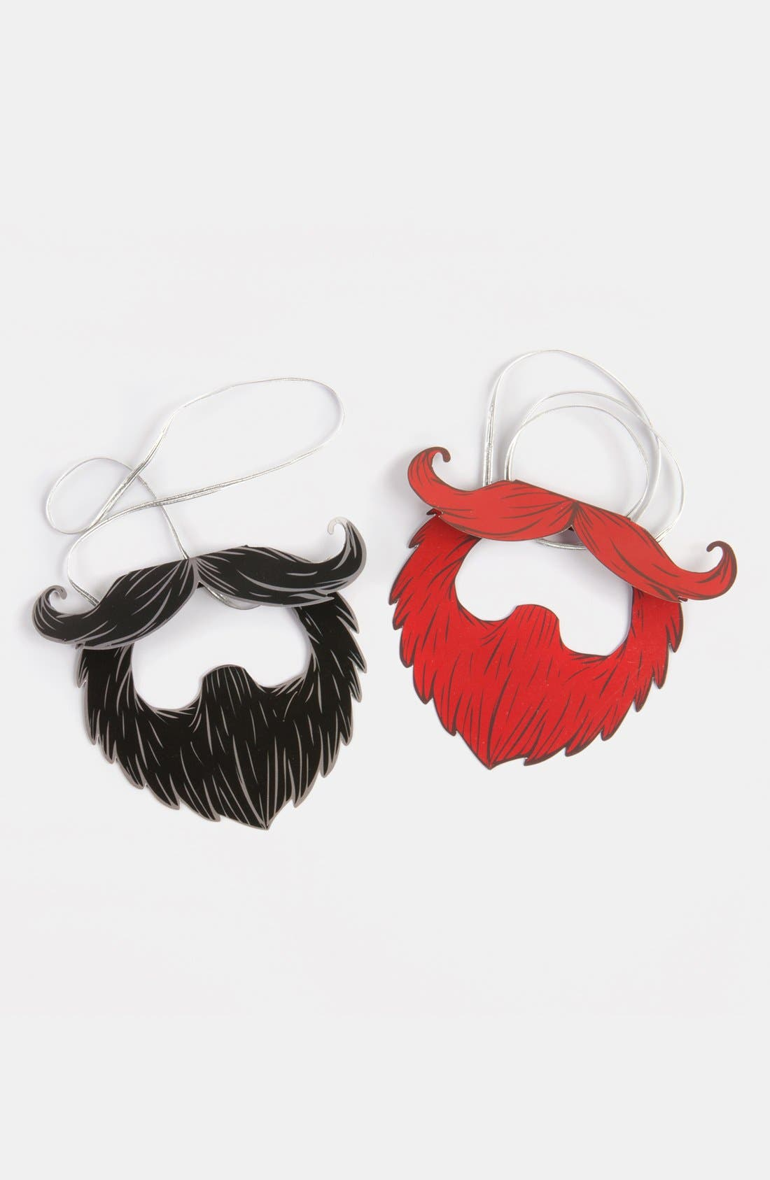 Alternate Image 2  - Multicolored Party Beards (Set of 8)