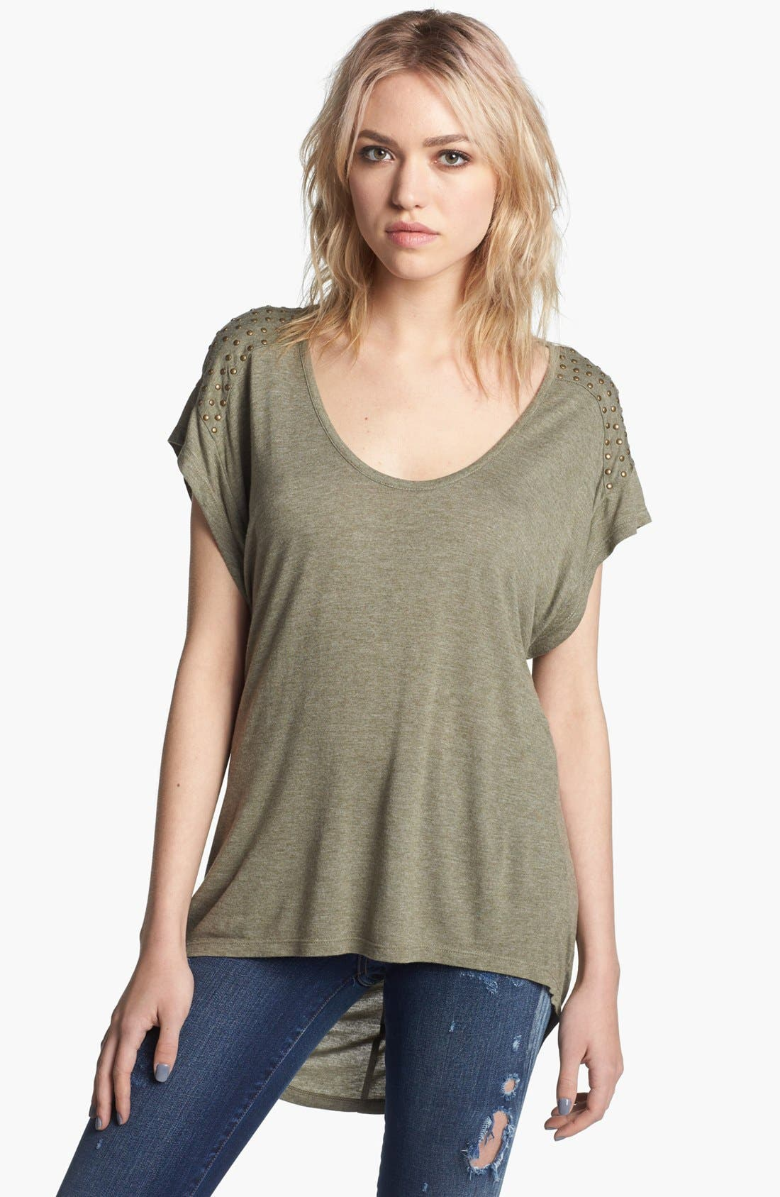 Main Image - Trouvé Drape Back Tee