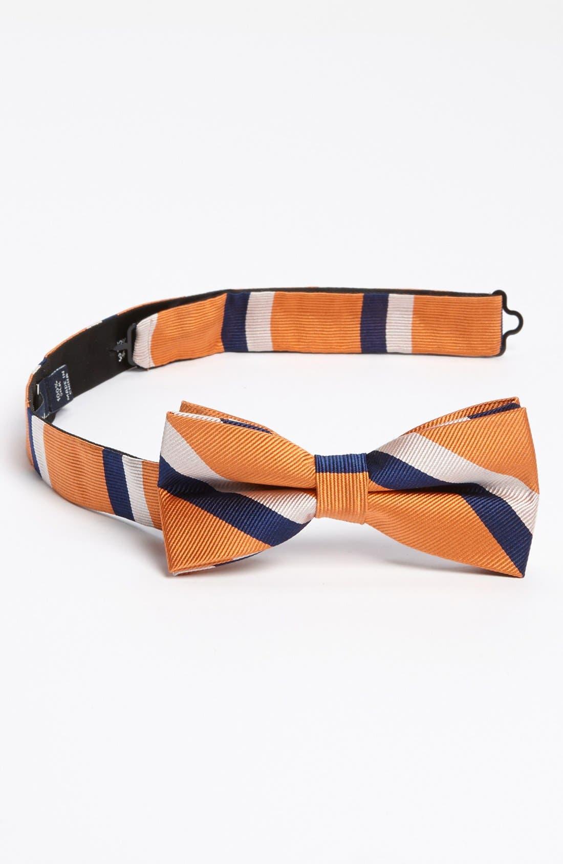 Main Image - 1901 Woven Silk Bow Tie