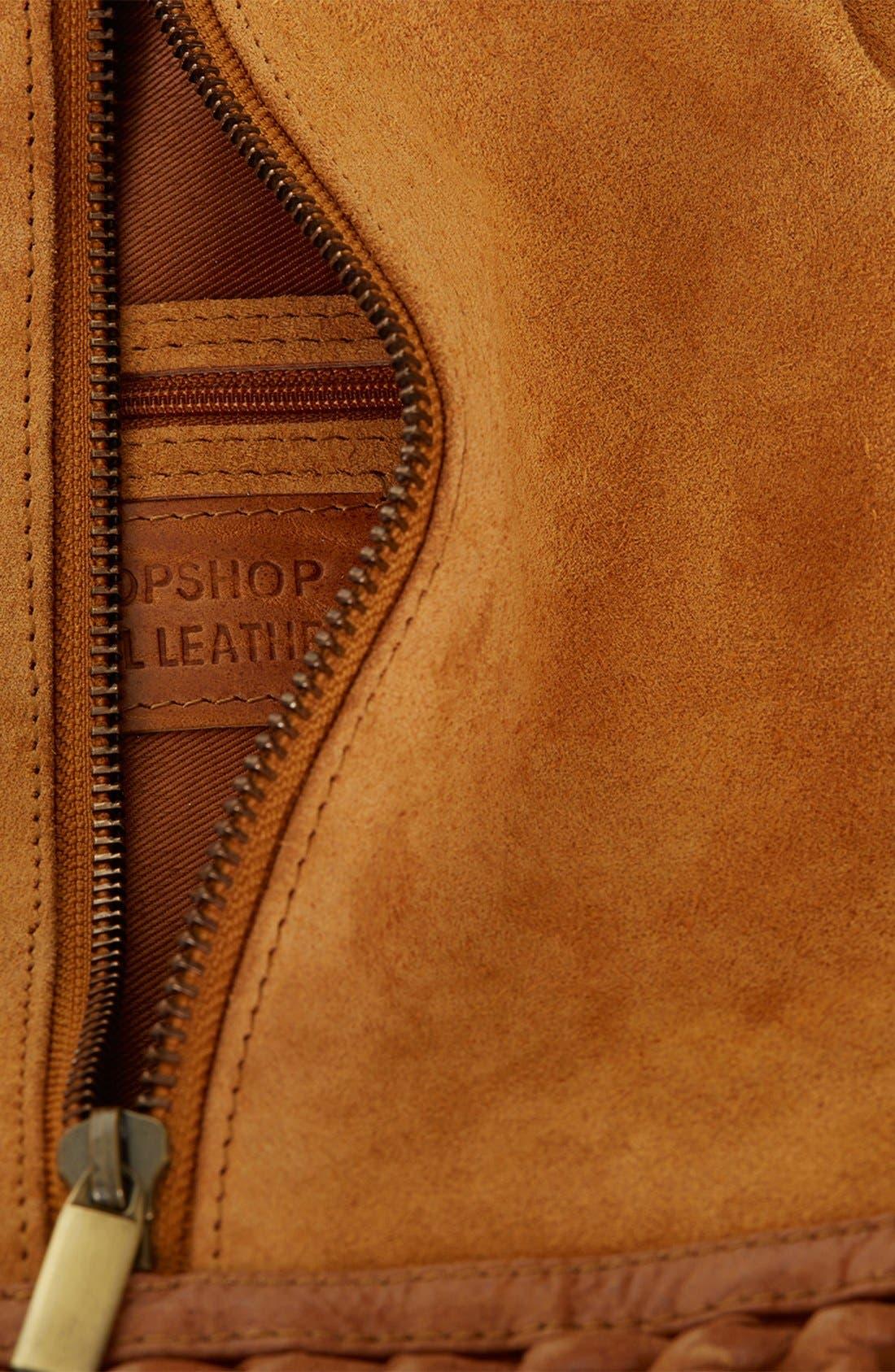 Alternate Image 3  - Topshop Suede Zip Backpack