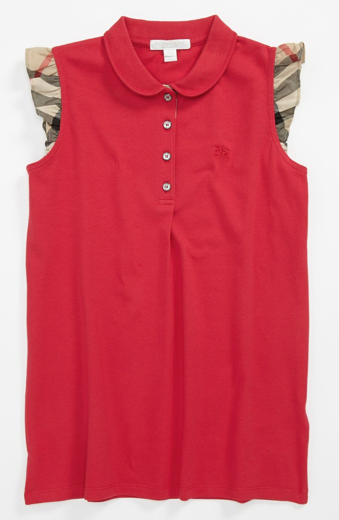 Alternate Image 1 Selected - Burberry 'Tia' Polo (Little Girls & Big Girls)